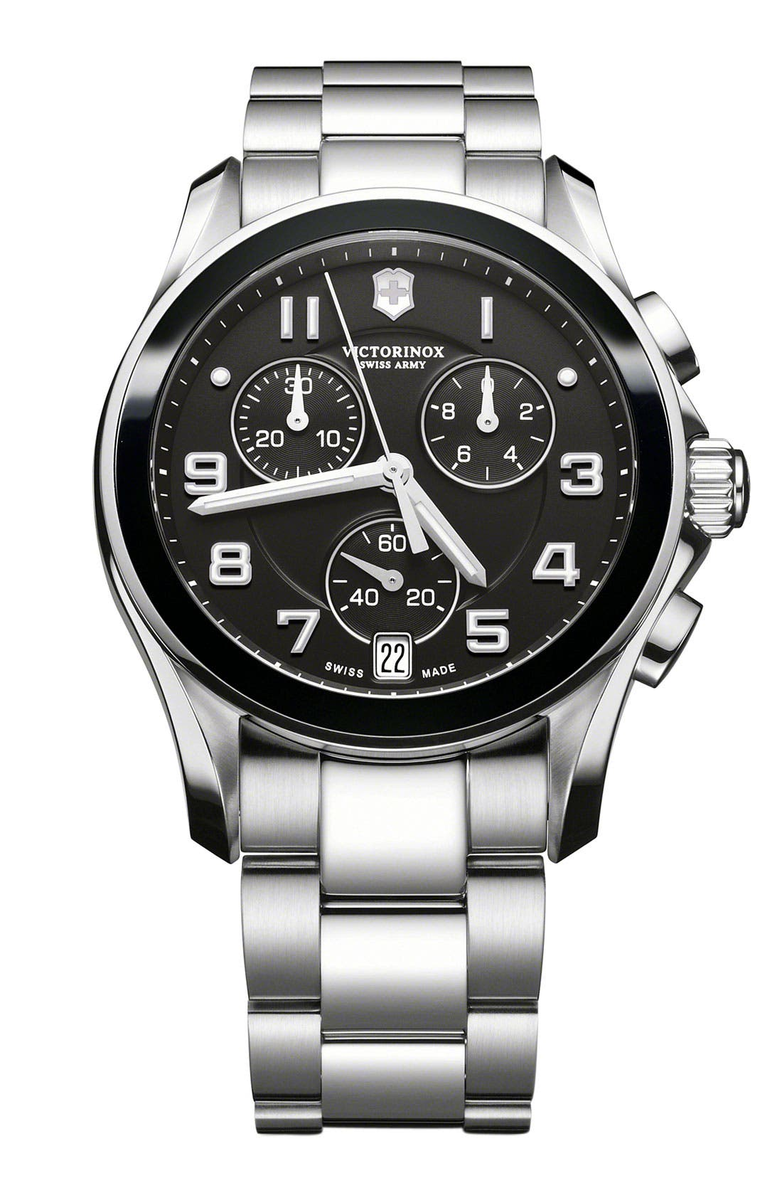Alternate Image 1 Selected - Victorinox Swiss Army® 'Chrono Classic' Watch with Ceramic Bezel
