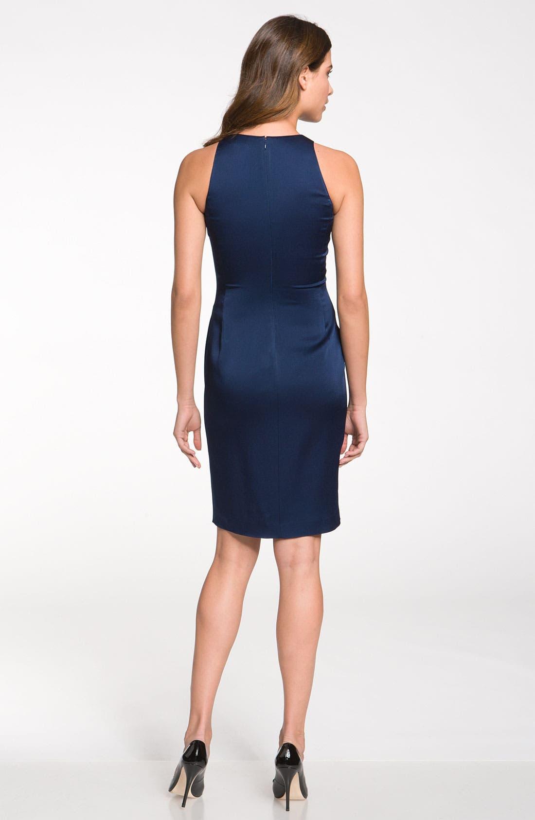 Alternate Image 2  - St. John Collection Ruffle Satin Dress