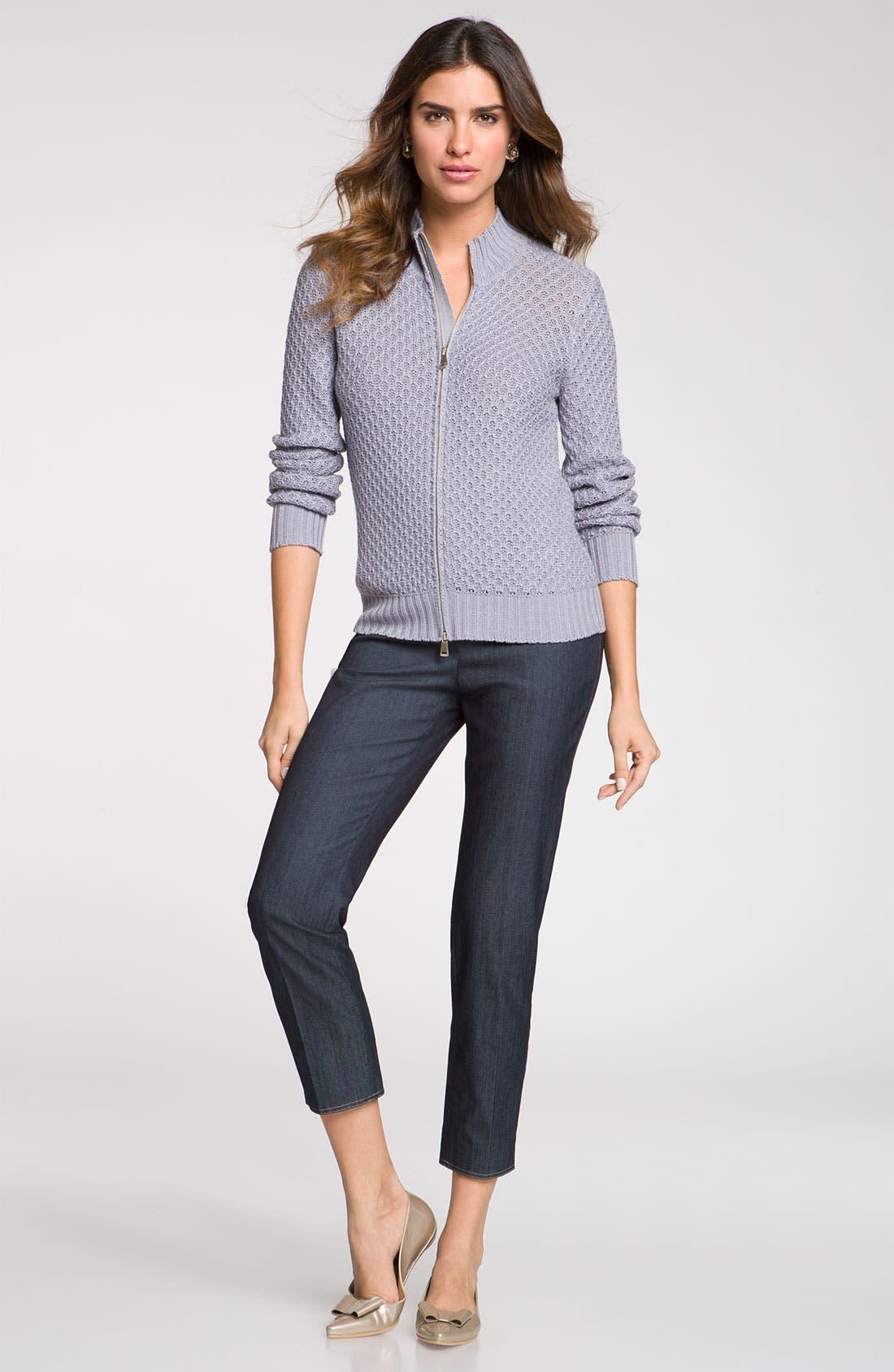 Main Image - St. John Collection 'Emma' Lightweight Crop Jeans