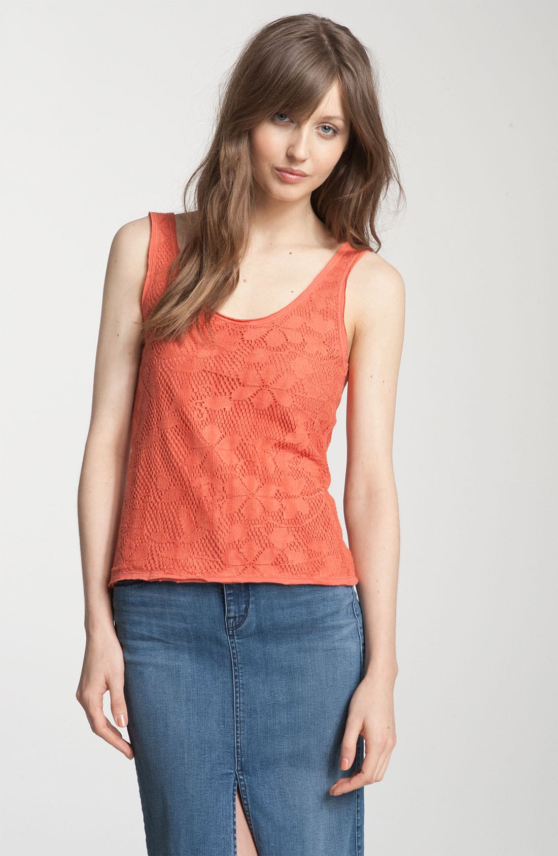 Main Image - Free People 'Toosaloosa' Lace Front Tank