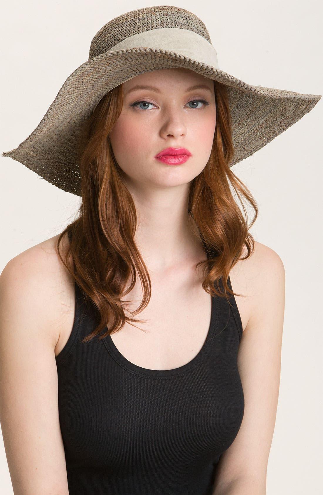 Main Image - Flora Bella Crochet Raffia Hat