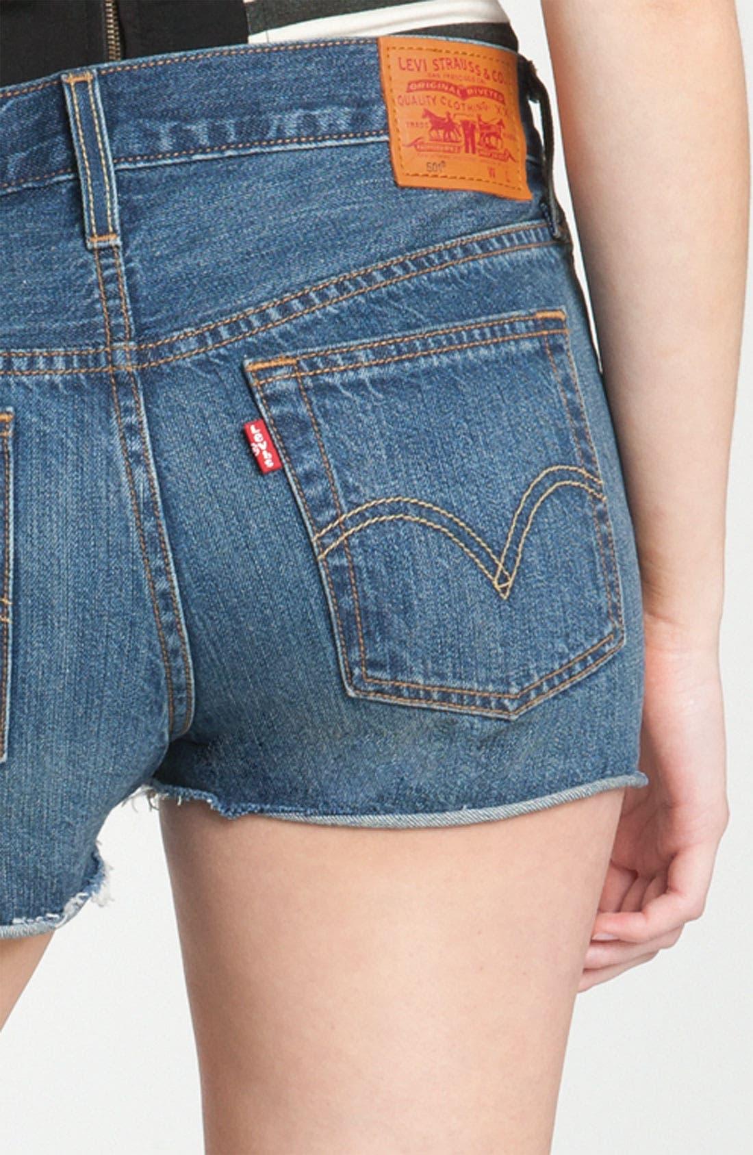 Alternate Image 3  - Levi's High Waist Cutoff Denim Shorts