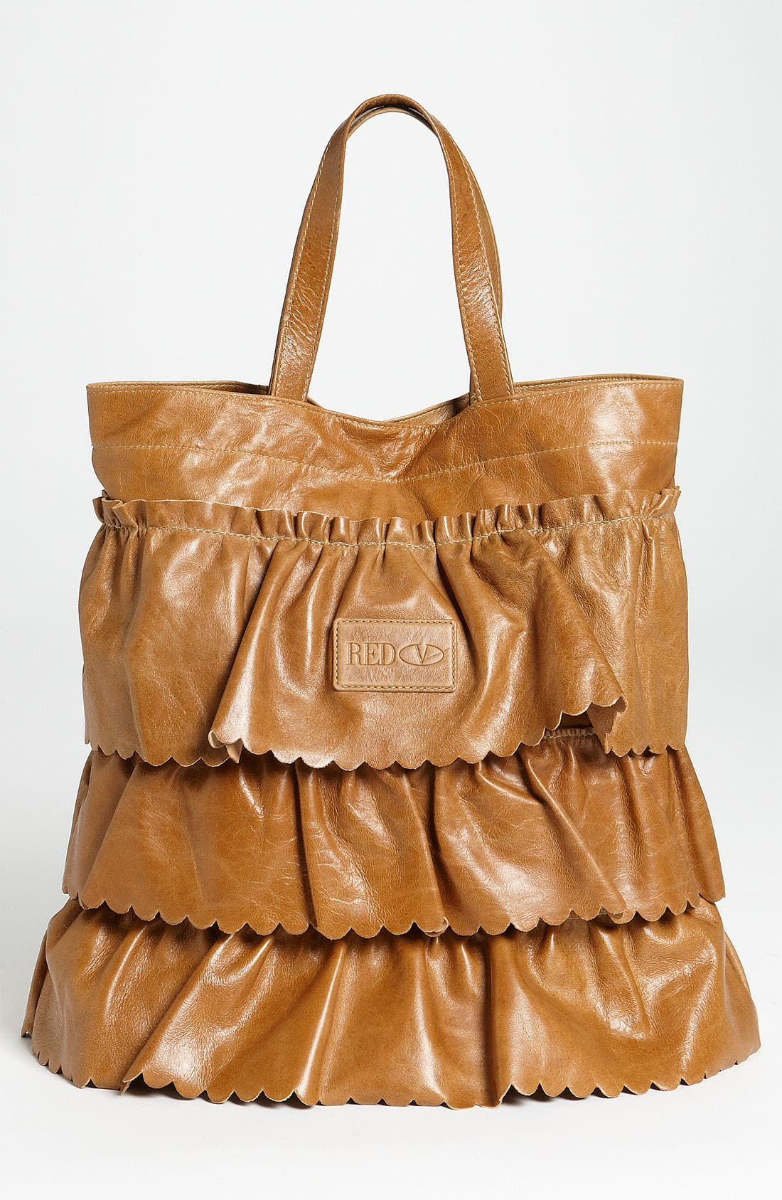 Alternate Image 4  - RED Valentino 'Vintage Ruffle' Lambskin Leather Tote