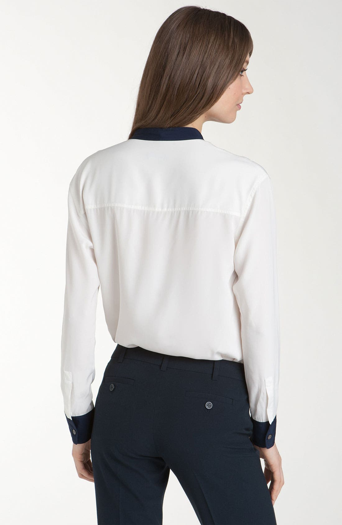 Alternate Image 2  - Vince Camuto Stand Collar Shirt with Contrast Trim (Petite)