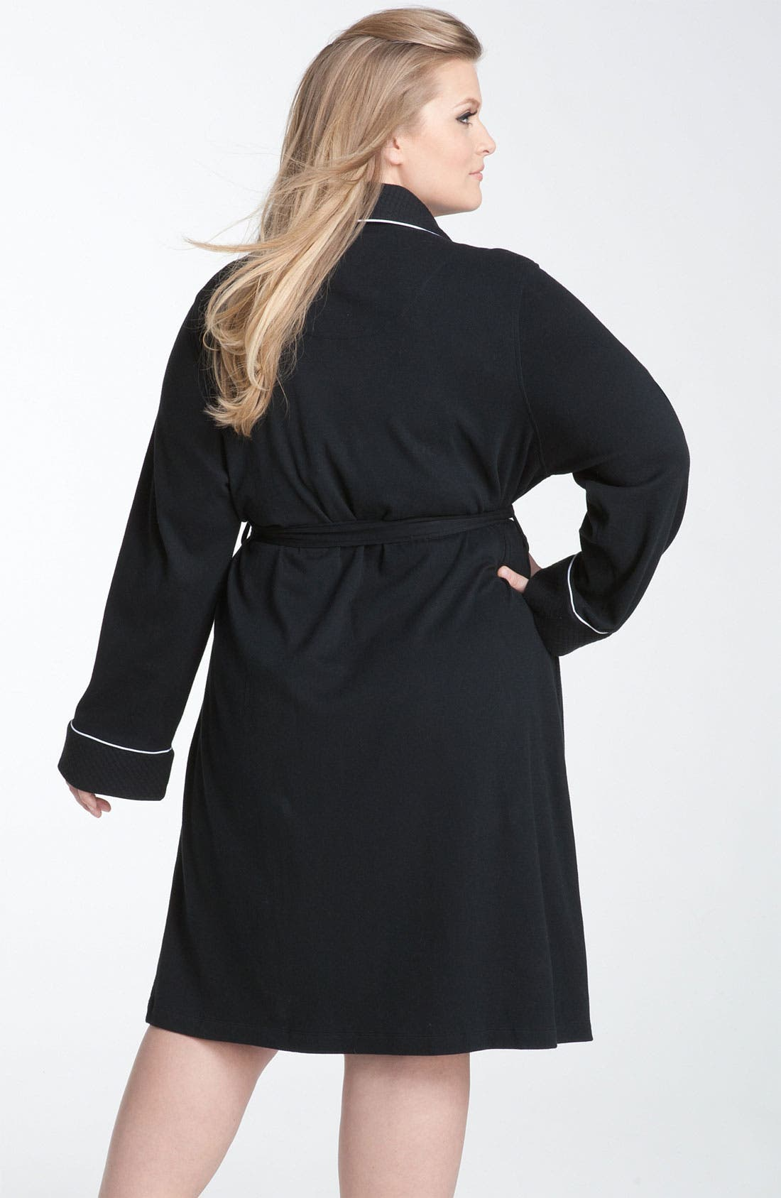 Alternate Image 2  - Lauren Ralph Lauren Shawl Collar Robe (Plus Size) (Online Only)