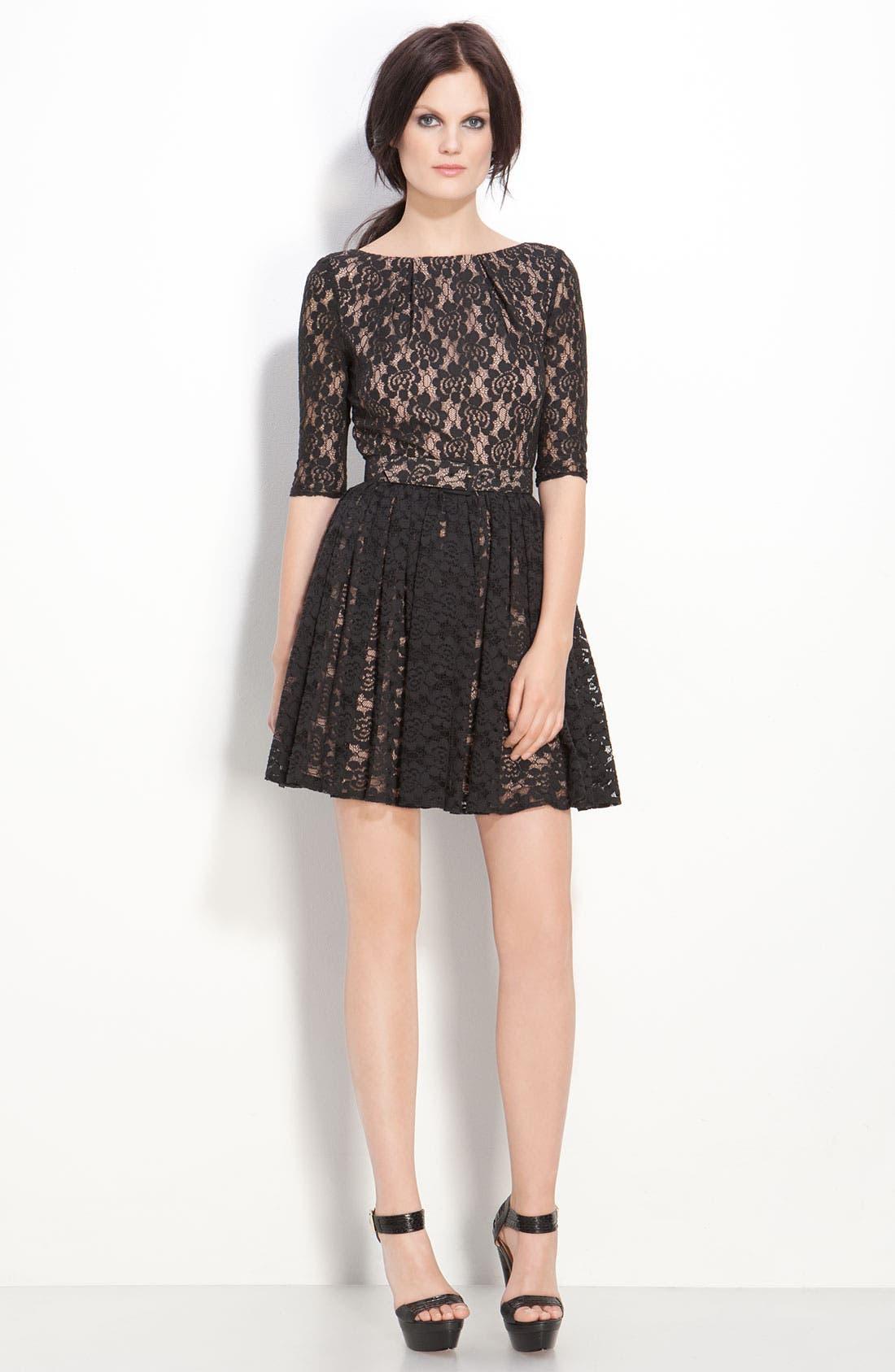 Alternate Image 1 Selected - Rachel Zoe 'Amanda' Belted Lace Dress