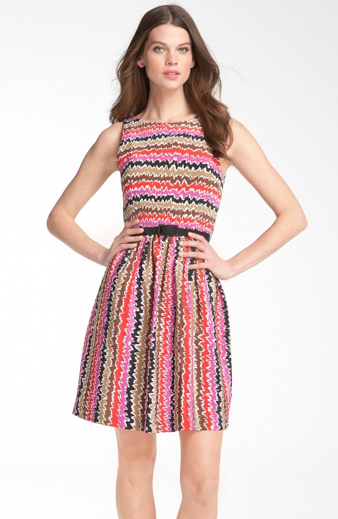 Alternate Image 1 Selected - Trina Turk 'Esperanza' Print Silk Belted Dress