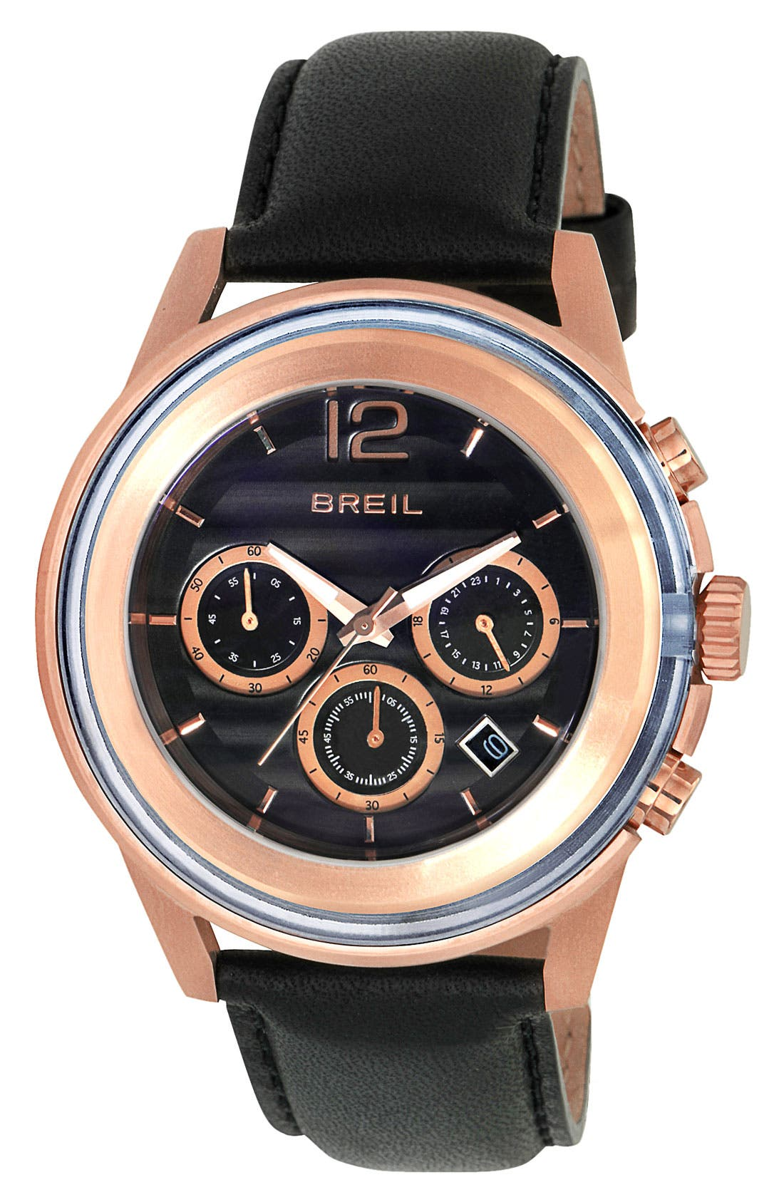 Alternate Image 1 Selected - Breil 'Orchestra' Chronograph Leather Strap Watch, 45mm