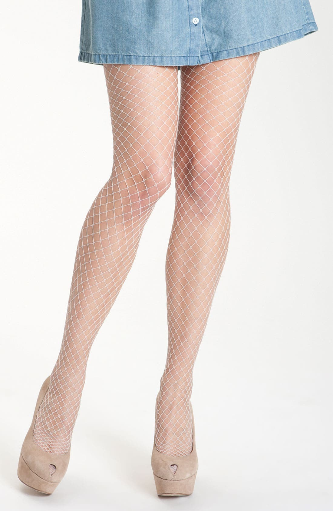 Alternate Image 1 Selected - Pretty Polly Fishnet Stockings (2-Pack)