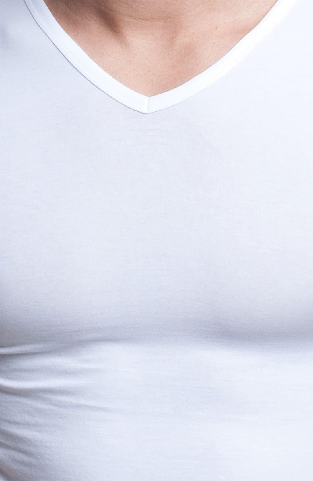 Alternate Image 2  - Ermenegildo Zegna Stretch Cotton V-Neck T-Shirt