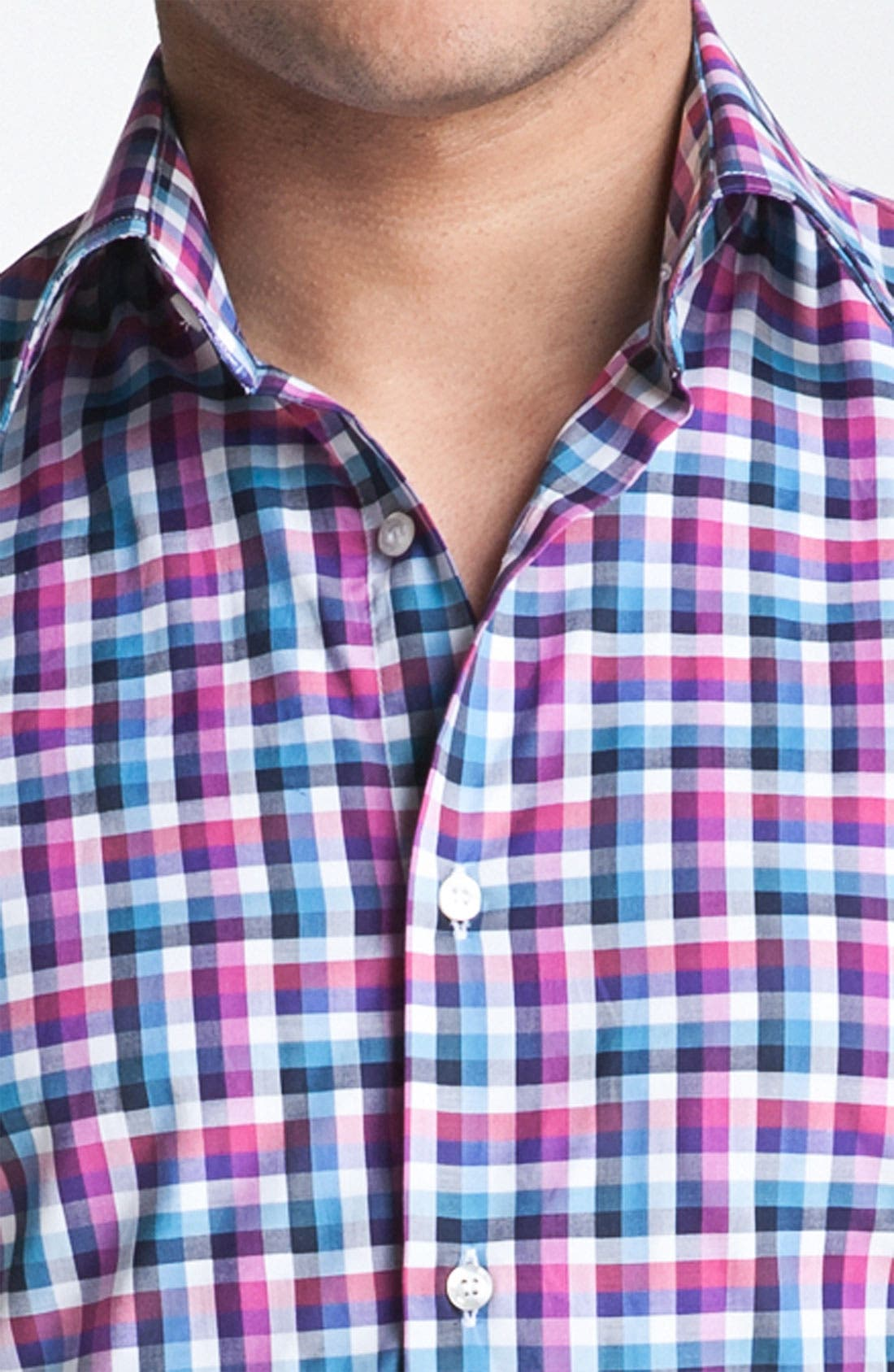 Alternate Image 3  - Etro Check Plaid Woven Dress Shirt
