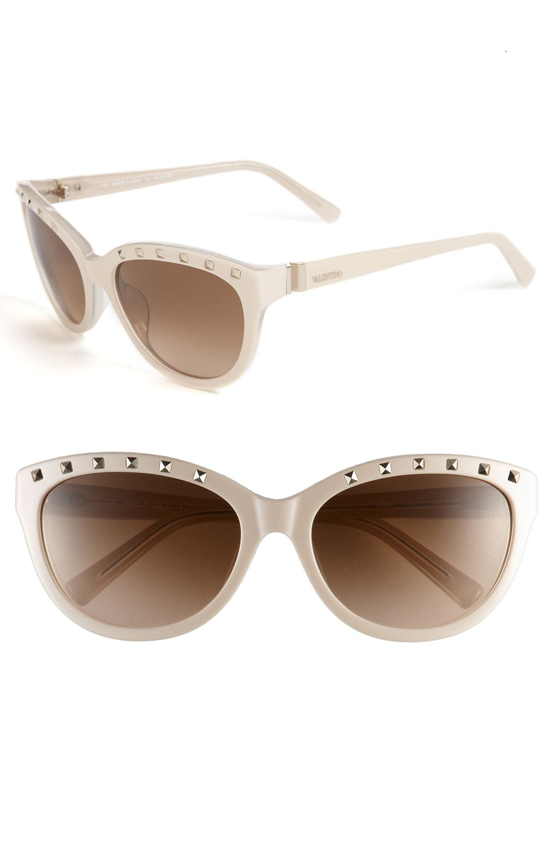 Main Image - Valentino 57mm Studded Cat Eye Sunglasses