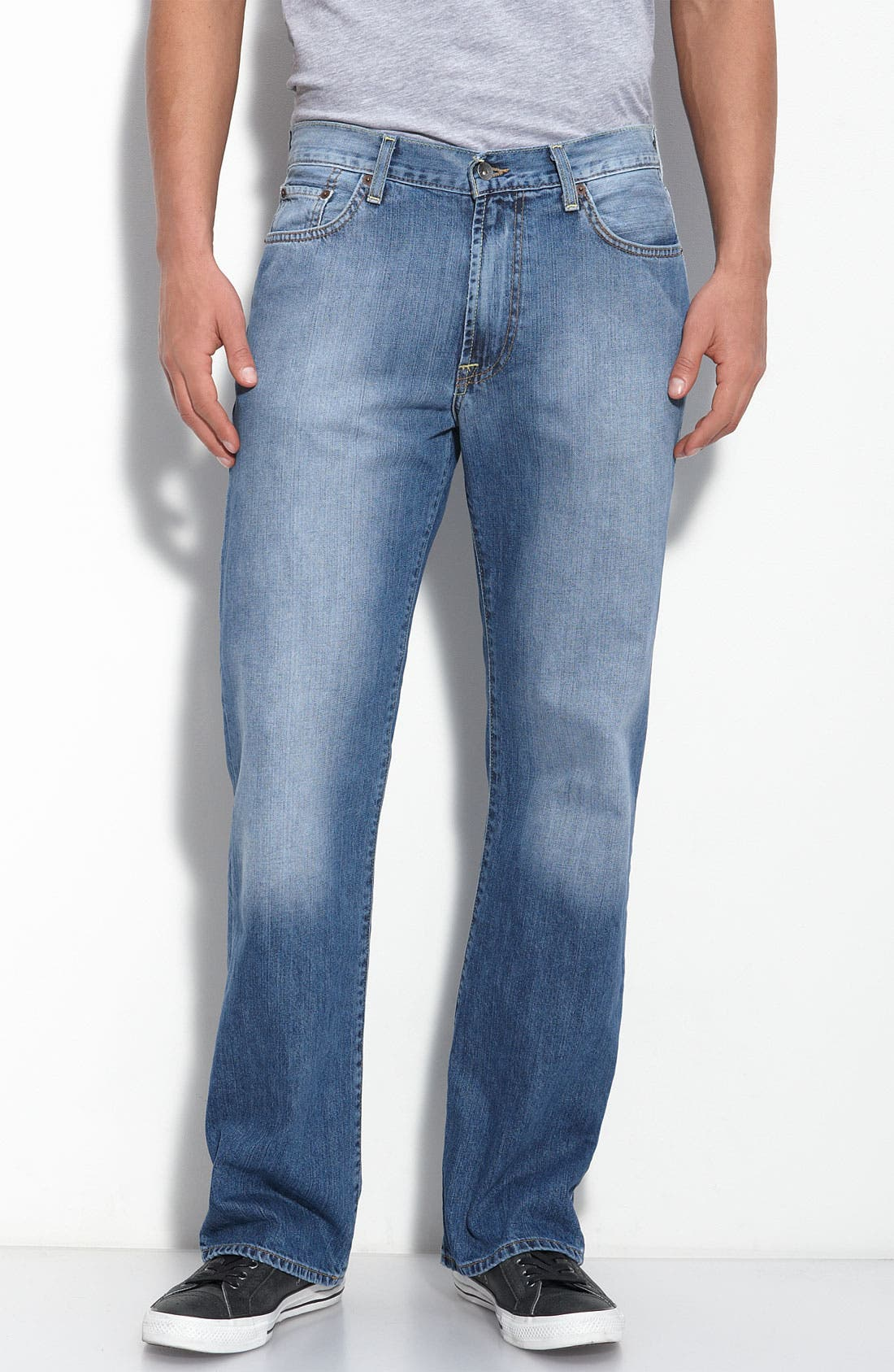 Alternate Image 1 Selected - Lucky Brand Straight Leg Jeans (Ol' Summer Camp)(Big & Tall) (Online Only)