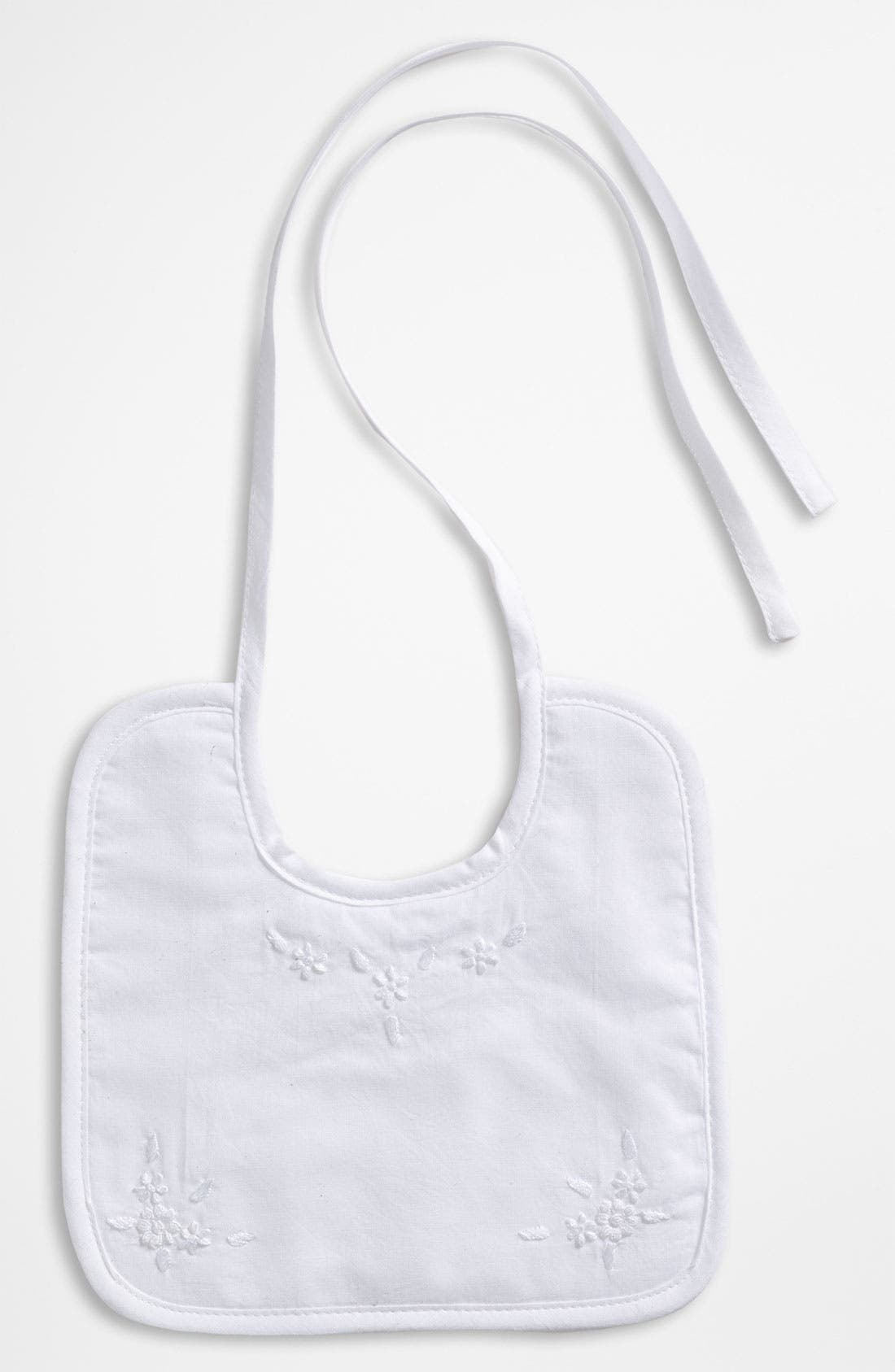 Alternate Image 1 Selected - Little Things Mean a Lot Embroidered Bib