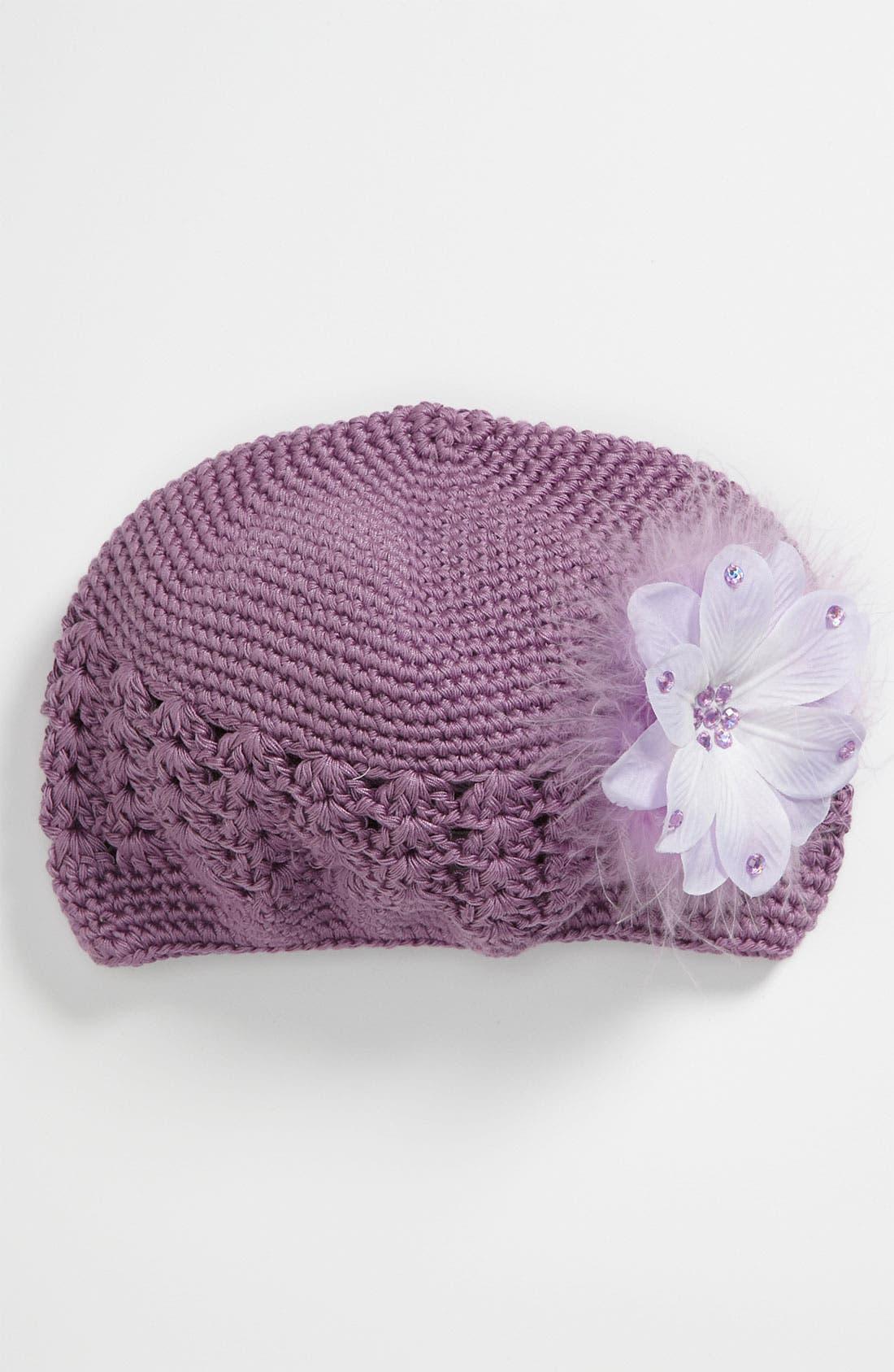 Main Image - PLH Bows & Laces Crochet Hat (Toddler)