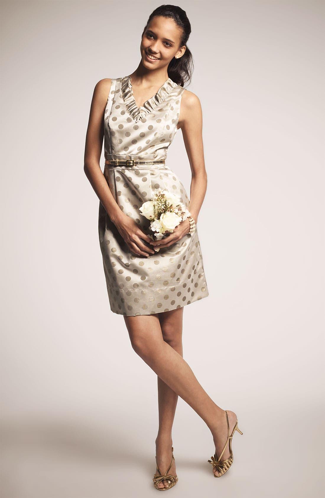 Alternate Image 4  - Eliza J Belted Ruffle Satin Sheath Dress