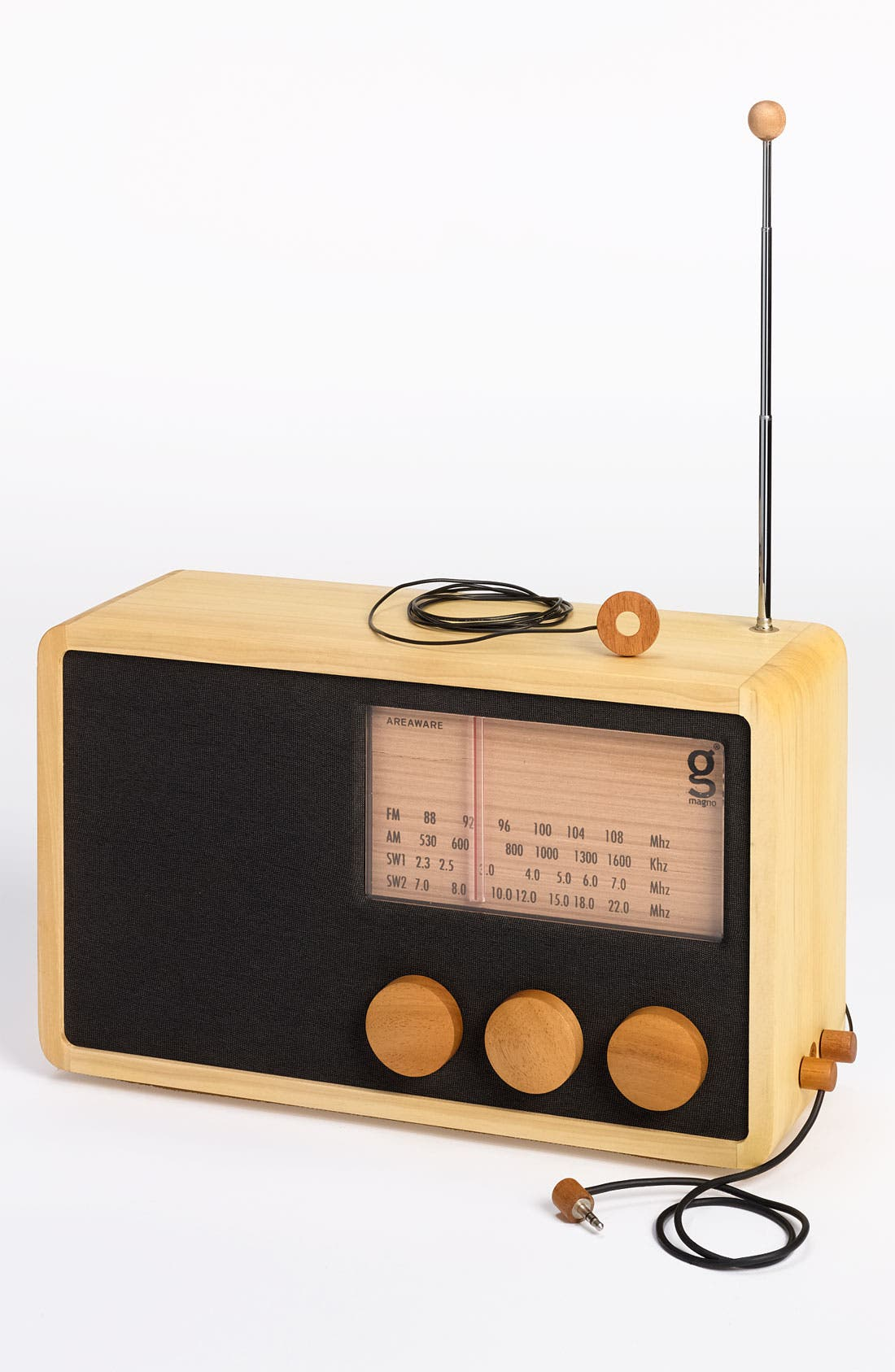 Alternate Image 4  - Handcrafted Pine & Mahogany 'Magno' Radio, Large
