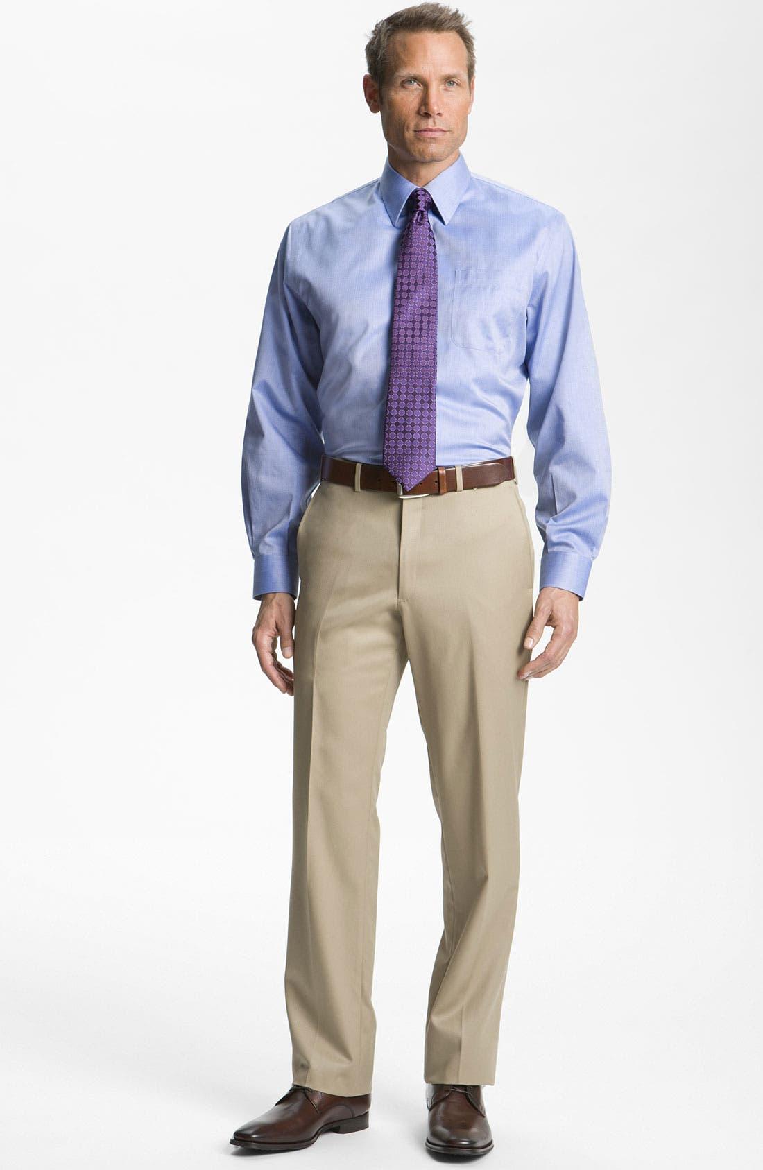 Alternate Image 5  - Nordstrom Men's Shop Smartcare™ Wrinkle Free Traditional Fit Herringbone Dress Shirt