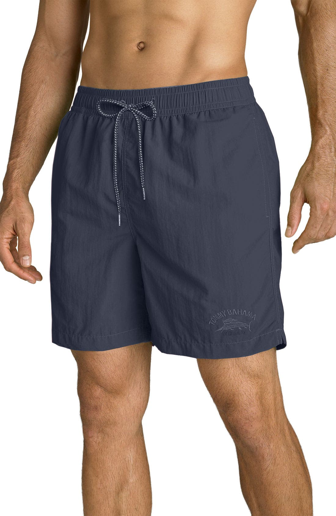Alternate Image 1 Selected - Tommy Bahama 'Happy Go Cargo' Volley Swim Trunks (Big & Tall)