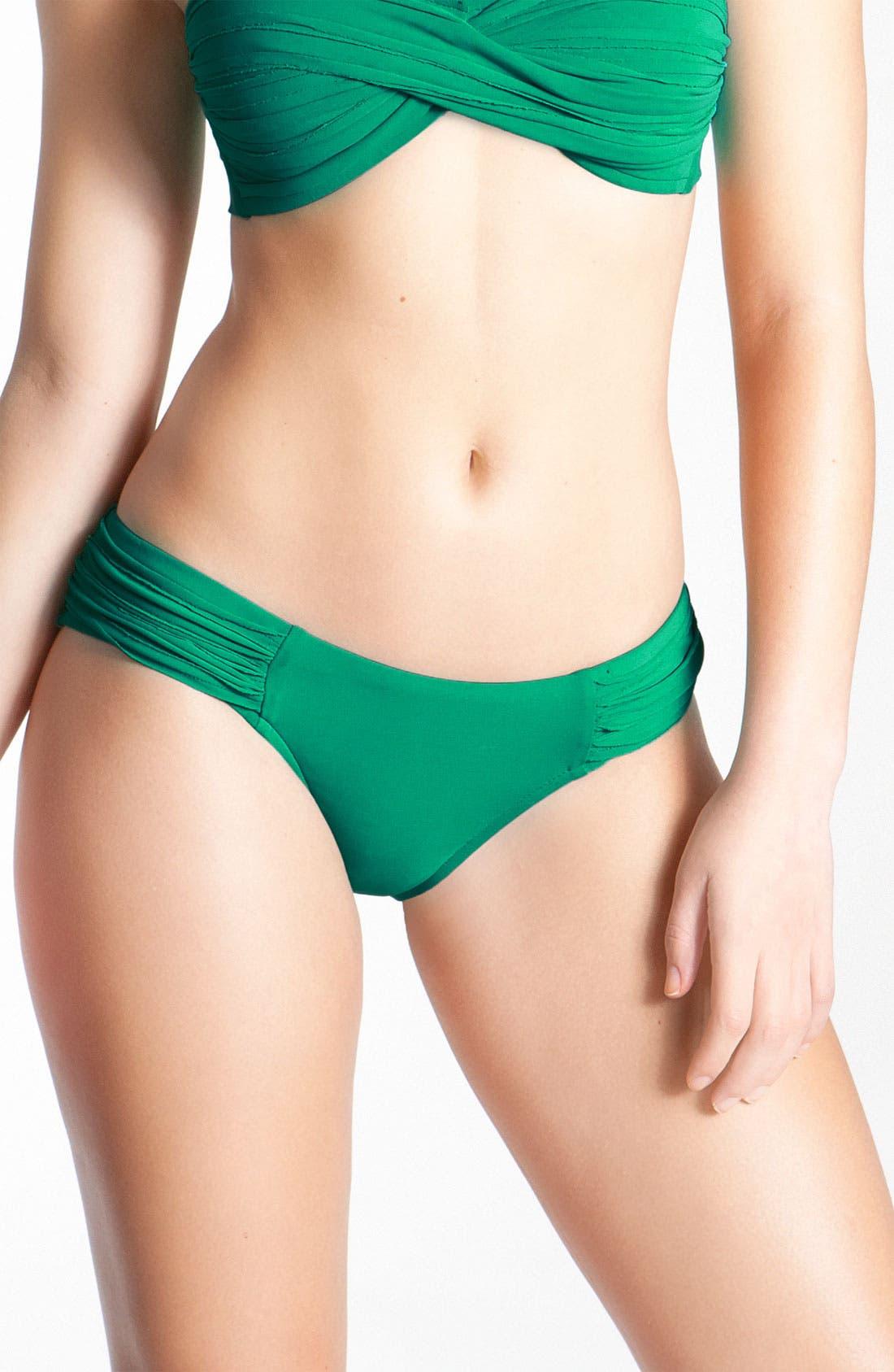 Alternate Image 1 Selected - Robin Piccone Pleated Bikini Bottoms
