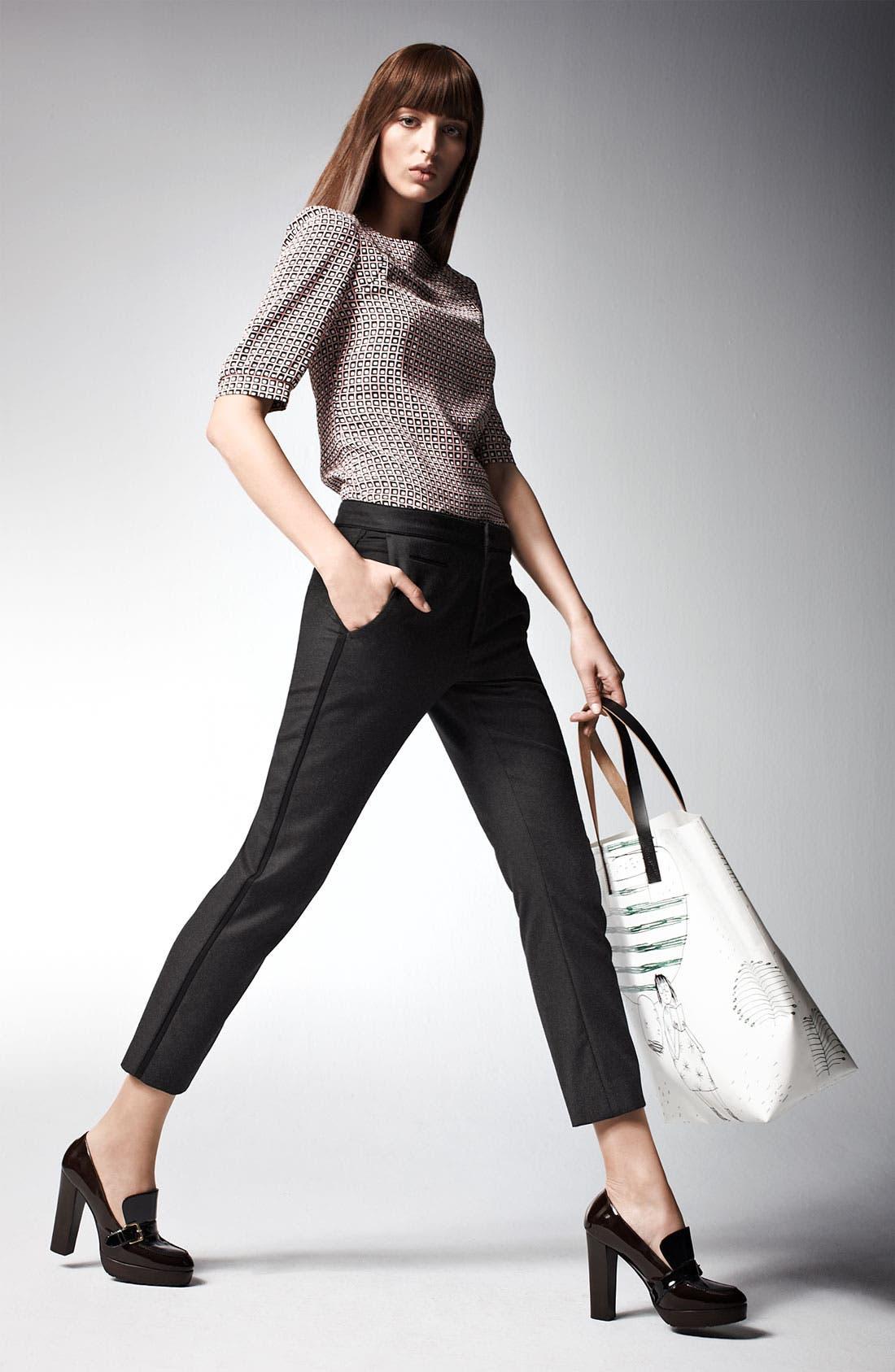 Alternate Image 9  - Marni Edition Crop Straight Leg Flannel Trousers