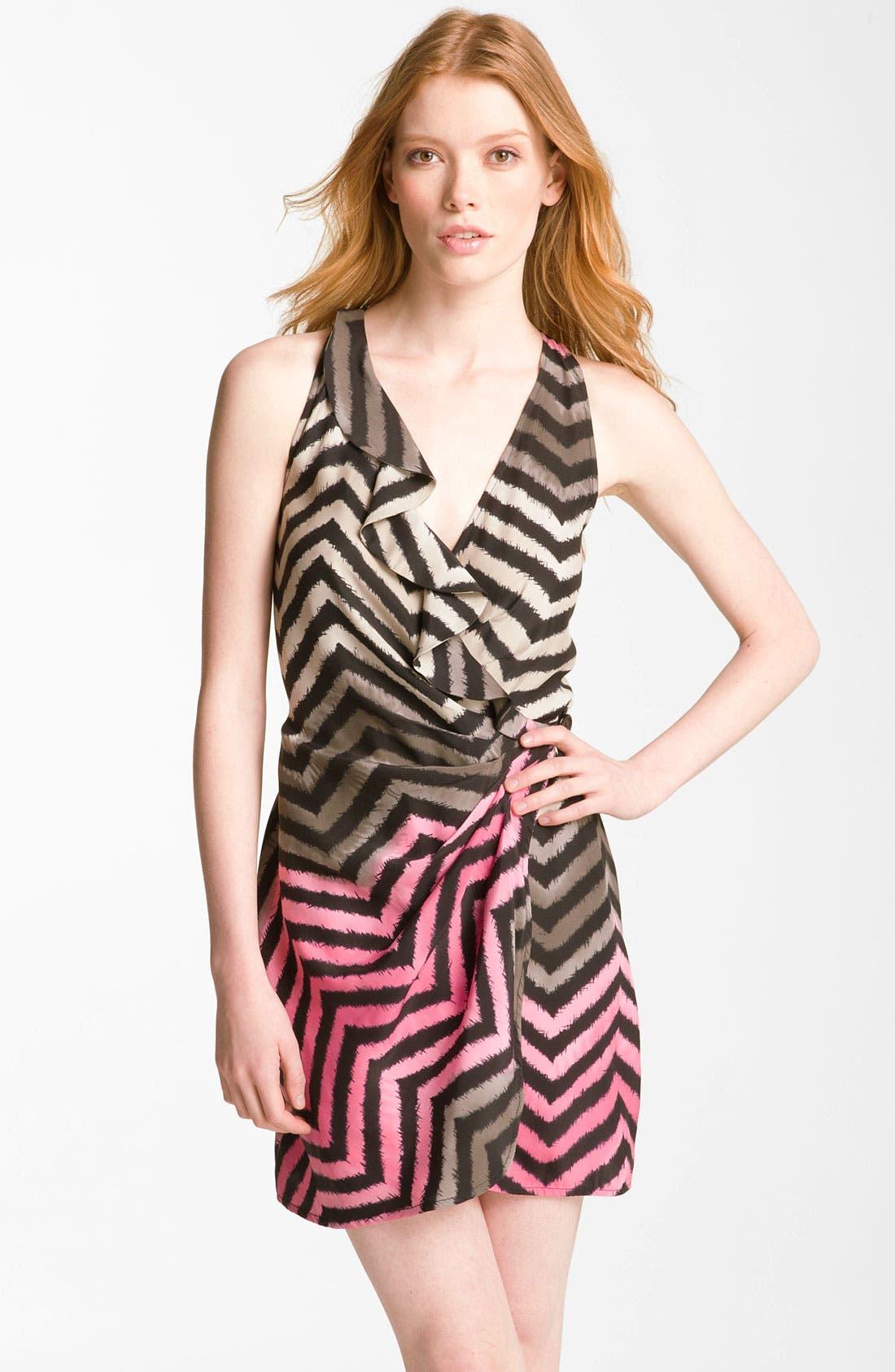 Main Image - Parker Wrap Silk Minidress