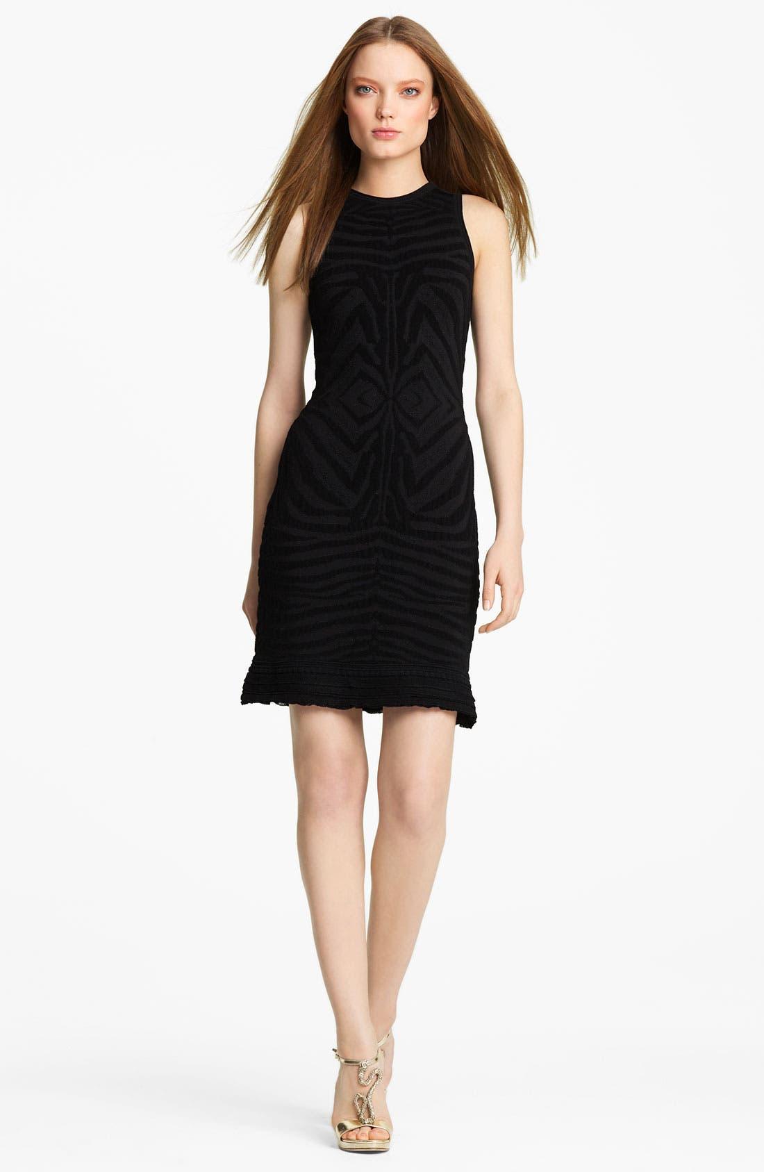 Alternate Image 1 Selected - Roberto Cavalli Zebra Knit Dress