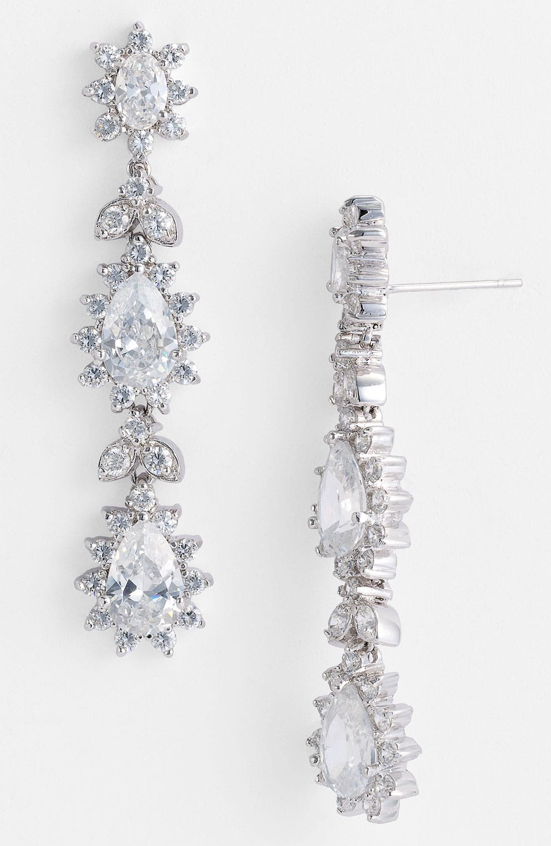 Alternate Image 1 Selected - CZ by Kenneth Jay Lane Triple Tier Drop Earrings