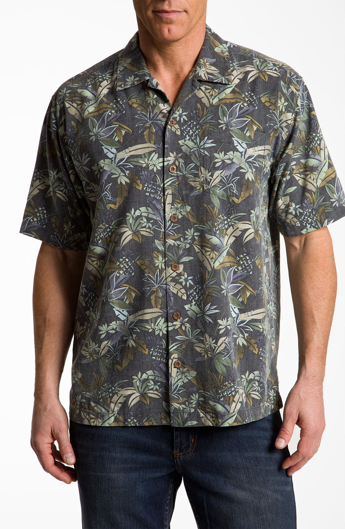 Alternate Image 1 Selected - Tommy Bahama 'Pineapple Ranch' Sport Shirt