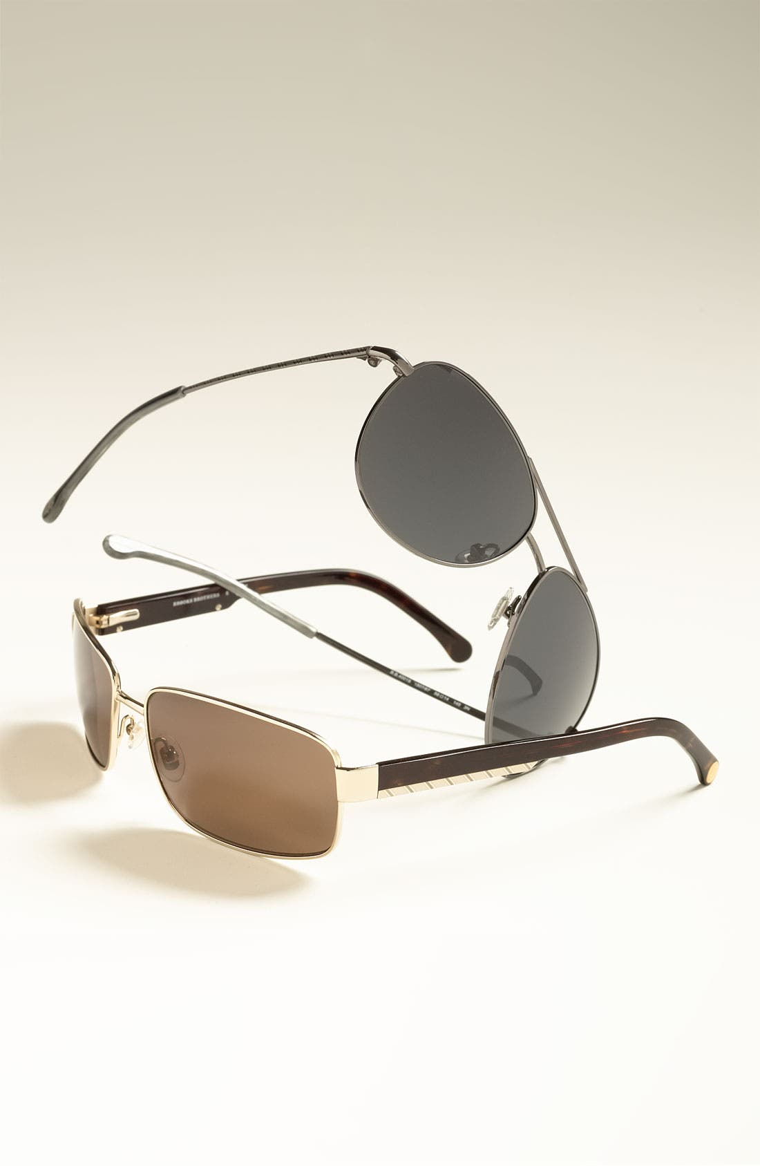 Alternate Image 2  - Brooks Brothers 63mm Metal Rectangular Sunglasses