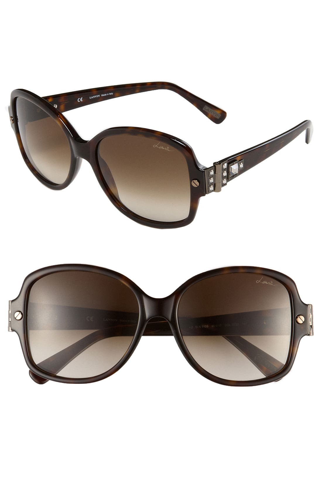 Alternate Image 1 Selected - Lanvin Oversized Swarovski Crystal Sunglasses