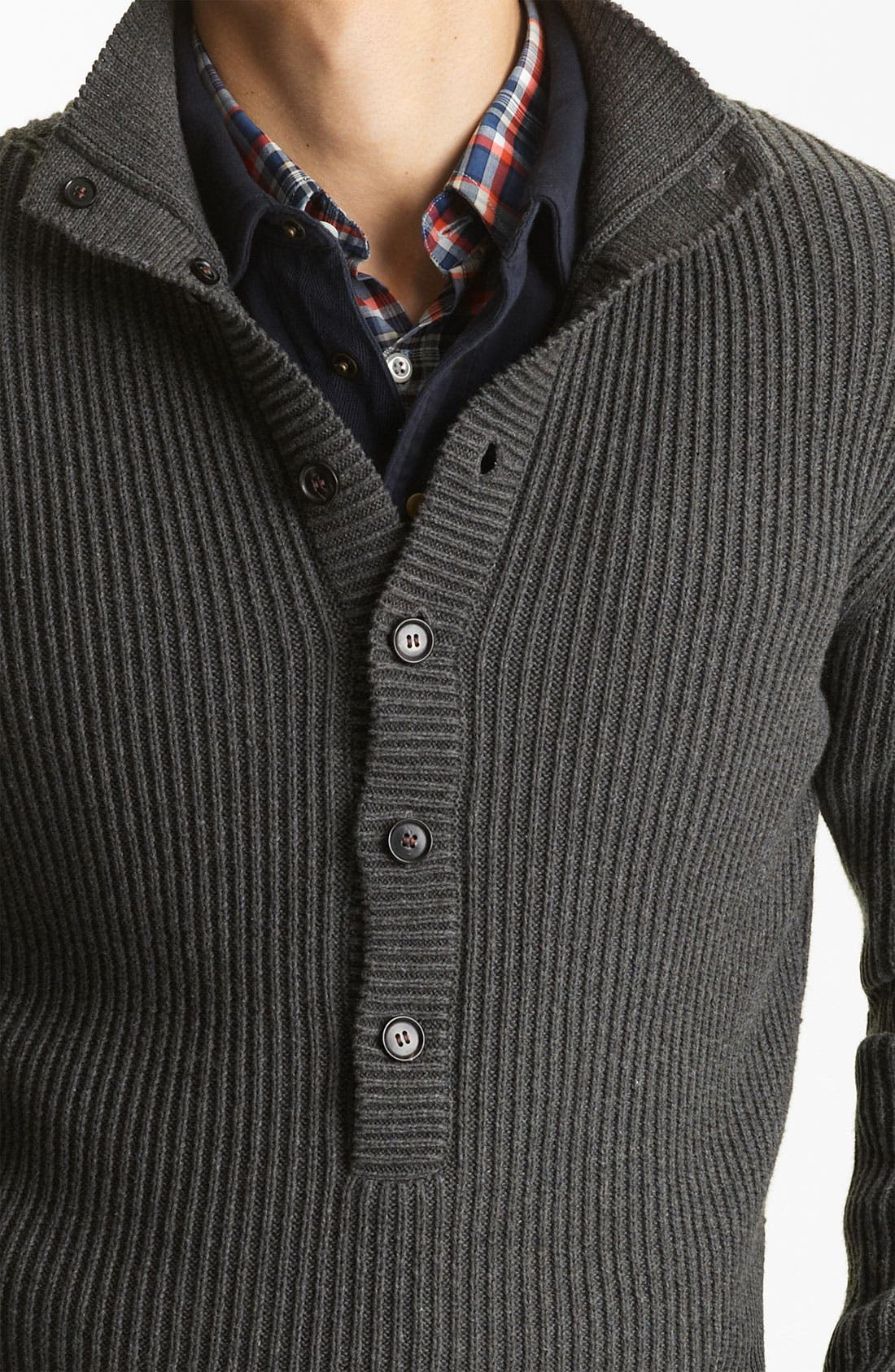 Alternate Image 3  - Billy Reid Ribbed Henley Sweater