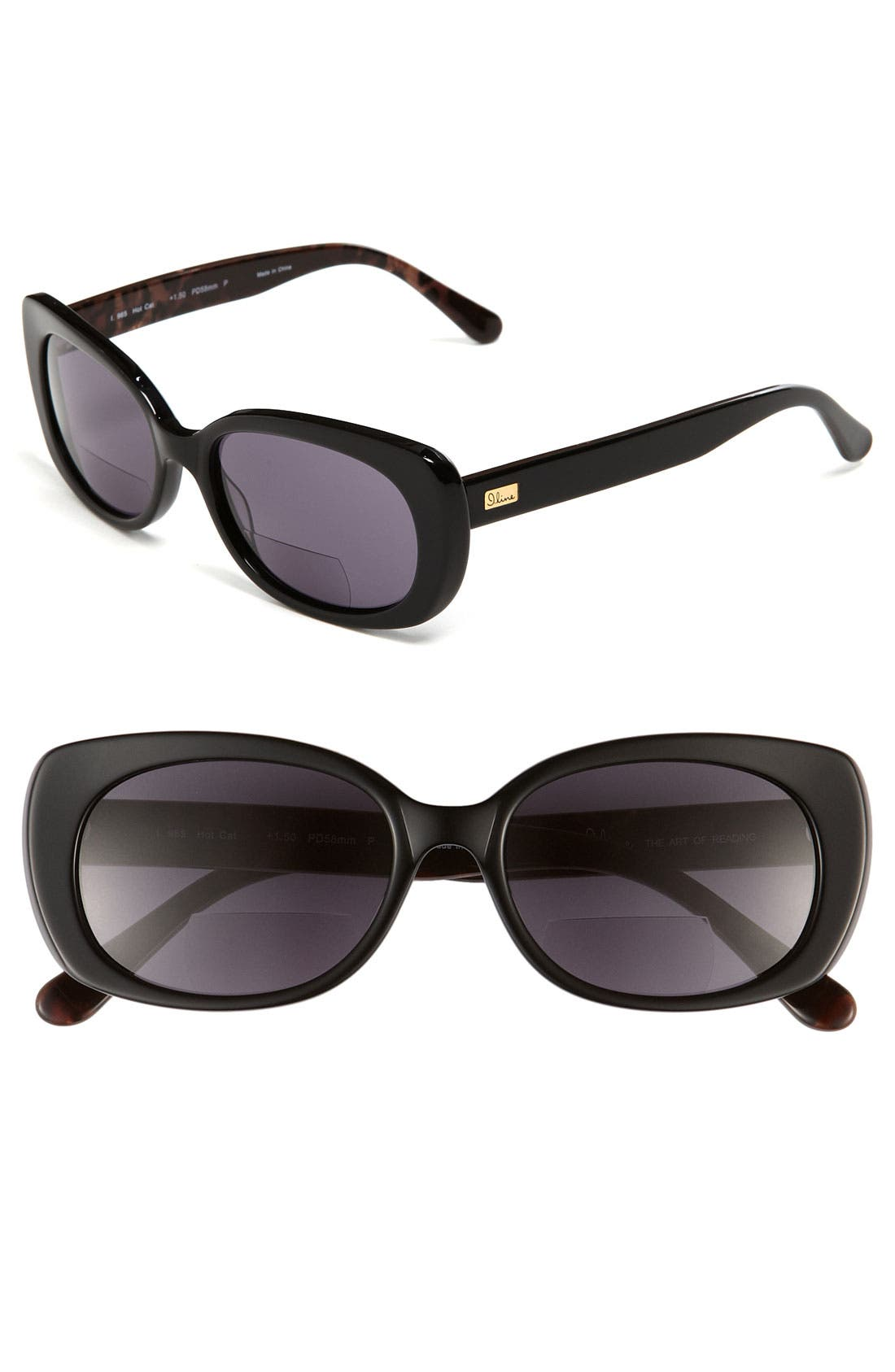 Main Image - I Line Eyewear 'Hot Cat' Reading Sunglasses
