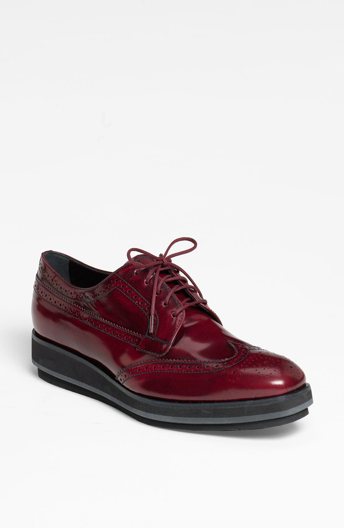 Main Image - Prada Brogue Platform Oxford