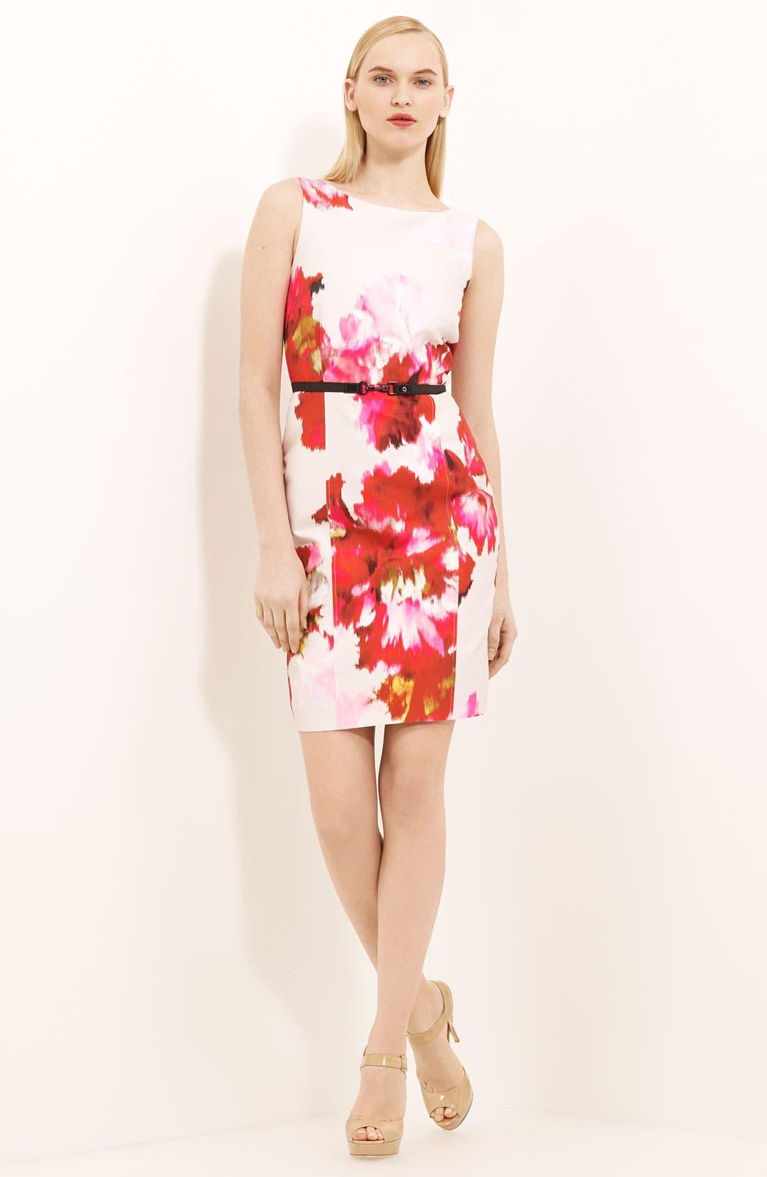 Main Image - Max Mara 'Dimitri' Print Silk & Cotton Dress