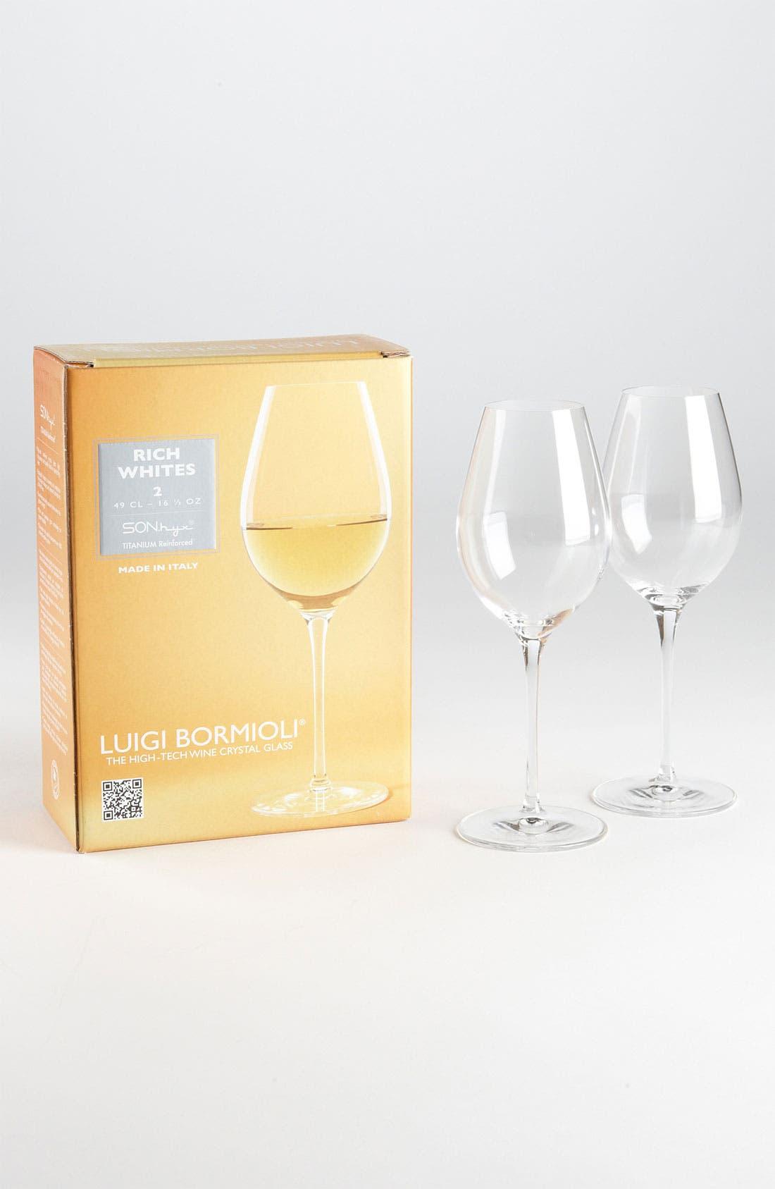 Alternate Image 1 Selected - Luigi Bormioli 'Wine Profiles - Rich Whites' Wine Glasses (Set of 2)