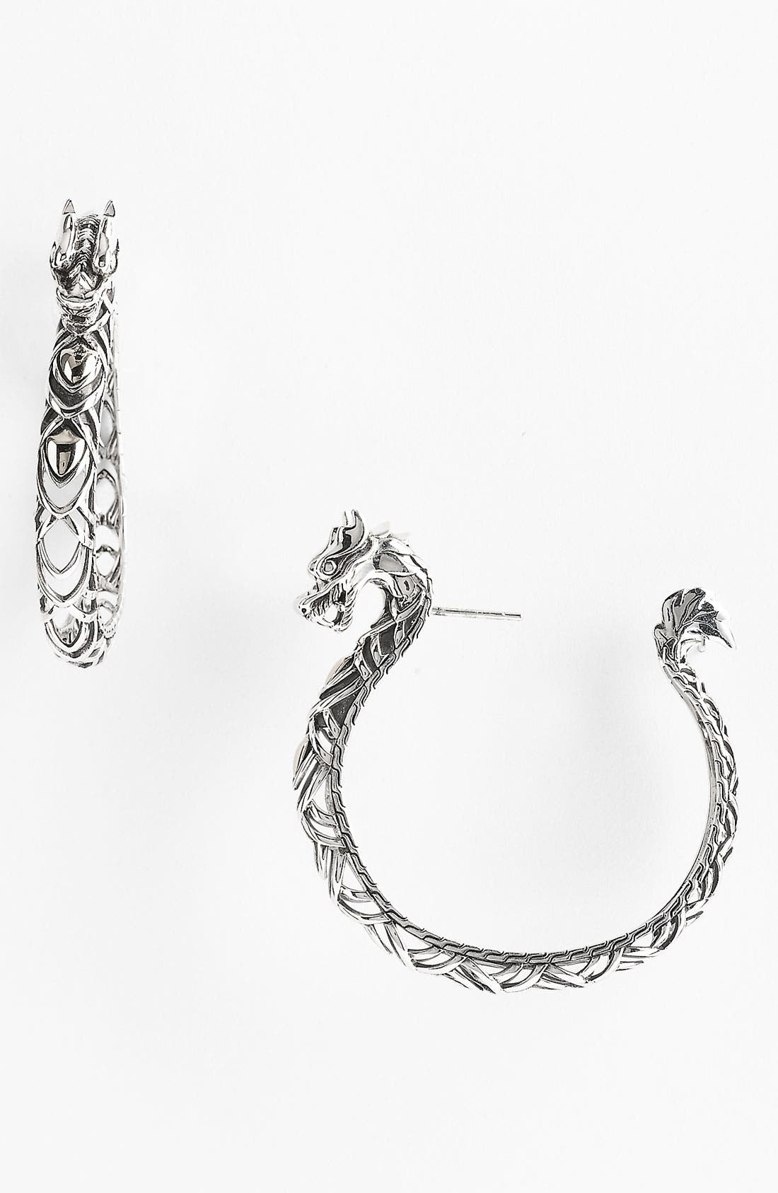 Alternate Image 1 Selected - John Hardy 'Naga - Large' Dragon Head Hoop Earrings