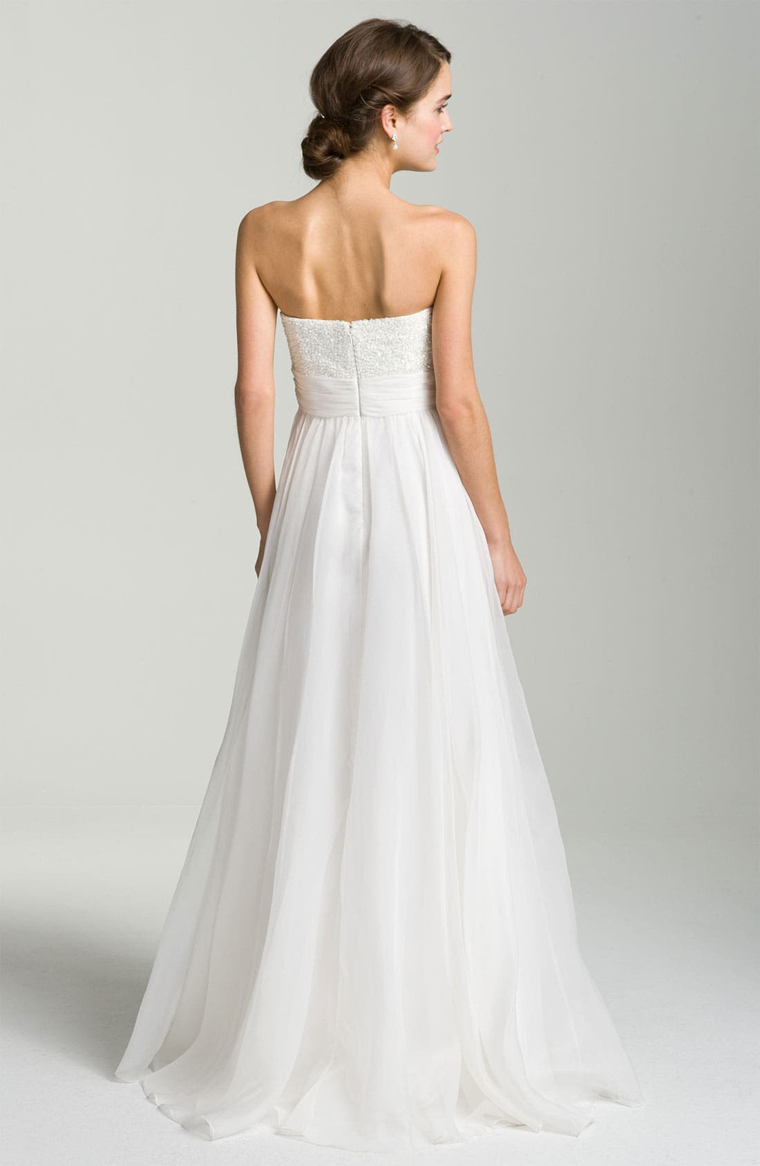 Alternate Image 3  - Theia Embellished Strapless Organza Gown