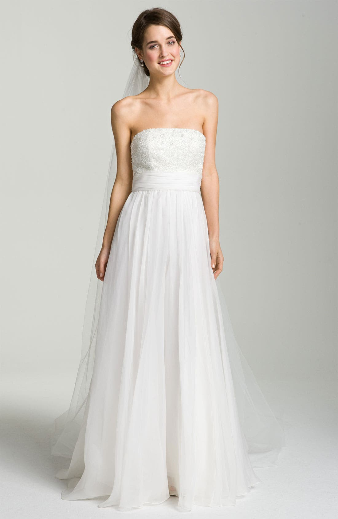 Alternate Image 4  - Theia Embellished Strapless Organza Gown
