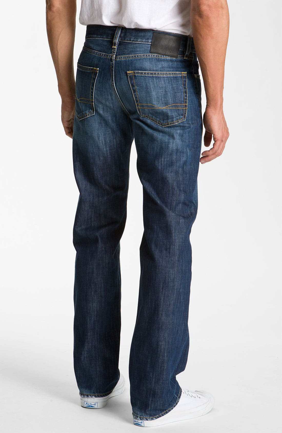 Alternate Image 1 Selected - BOSS Black 'Texas' Bootcut Jeans (Blue Rinse)