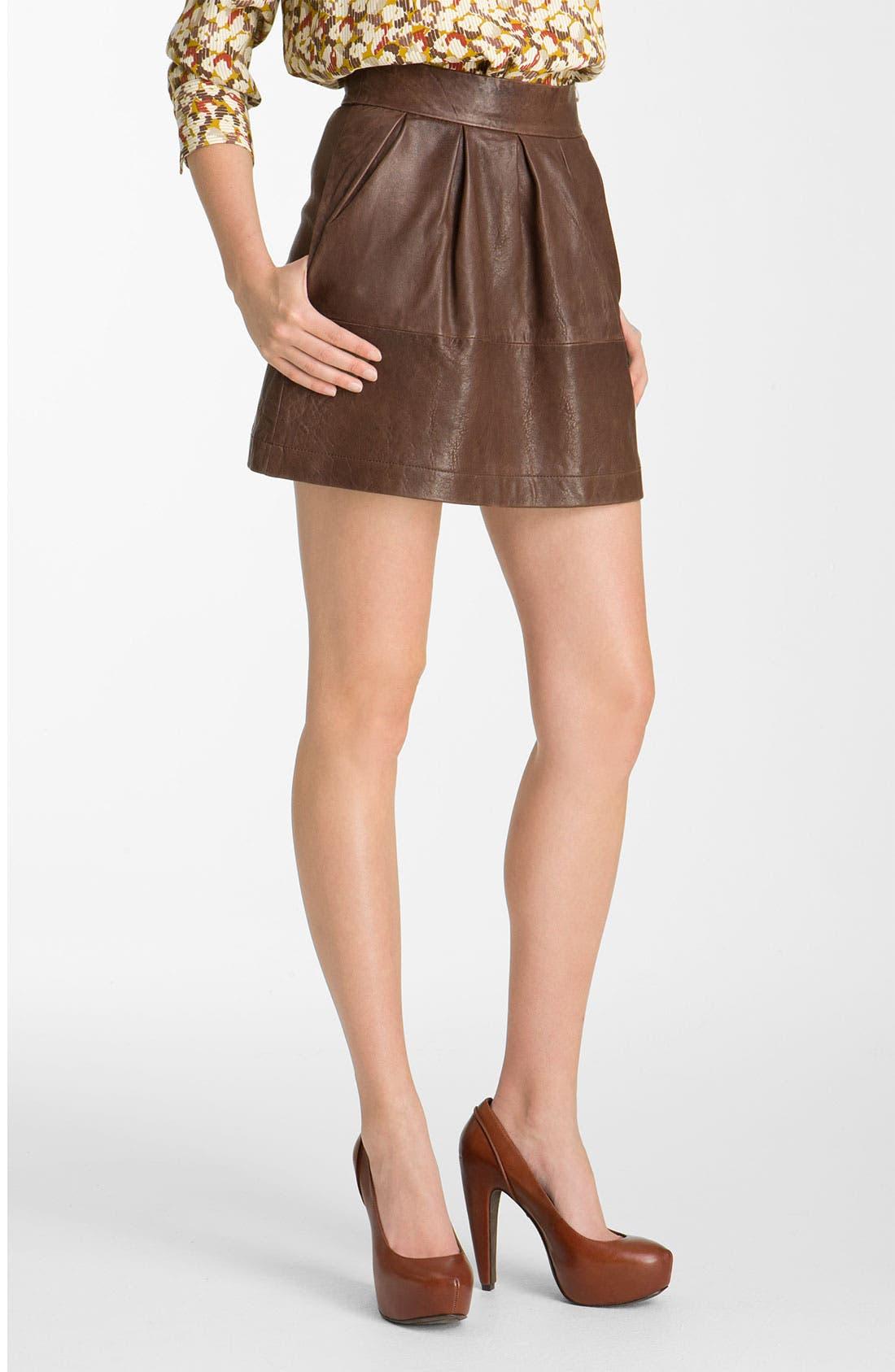 Alternate Image 1 Selected - Paul & Joe Sister 'Cartell' Leather Skirt
