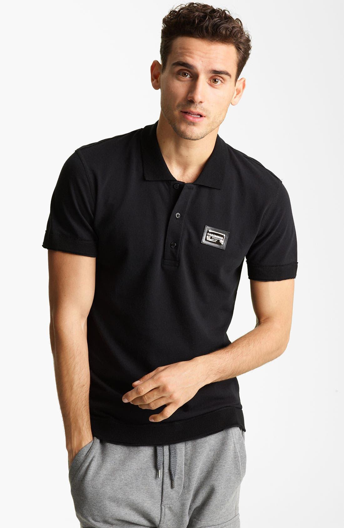 Main Image - Dolce&Gabbana Short Sleeve Polo