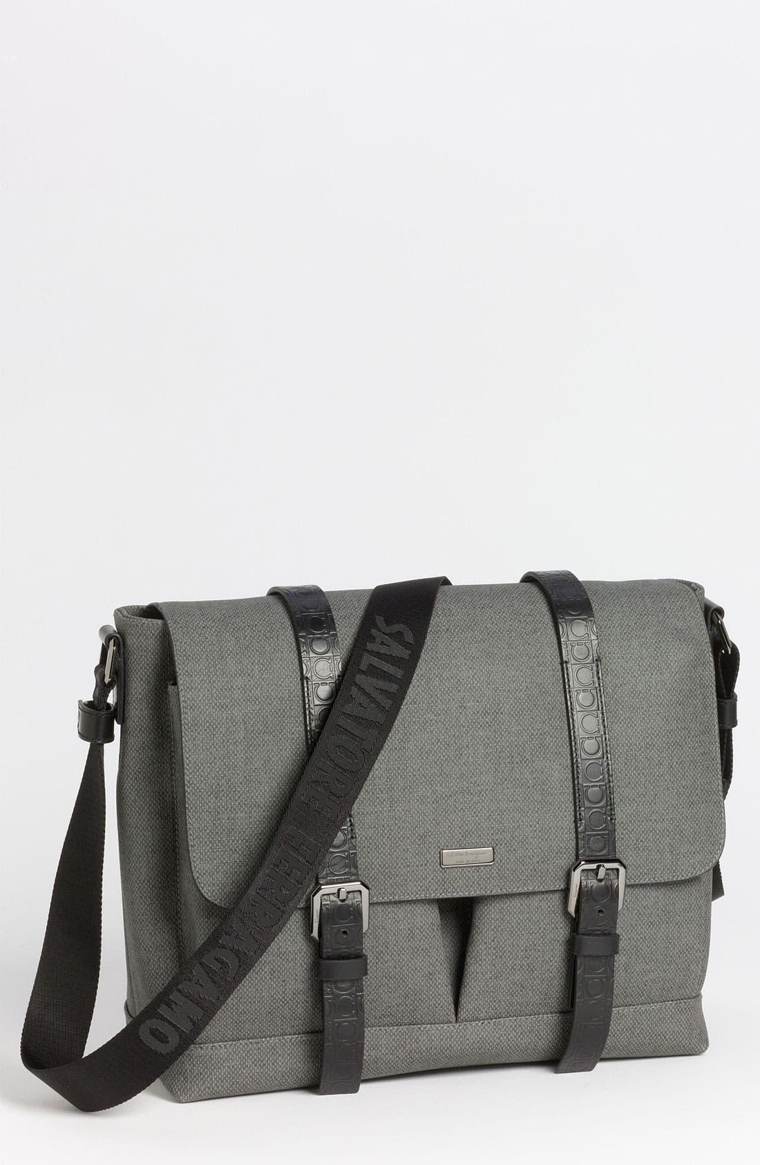 Alternate Image 1 Selected - Salvatore Ferragamo 'New Form' Messenger Bag