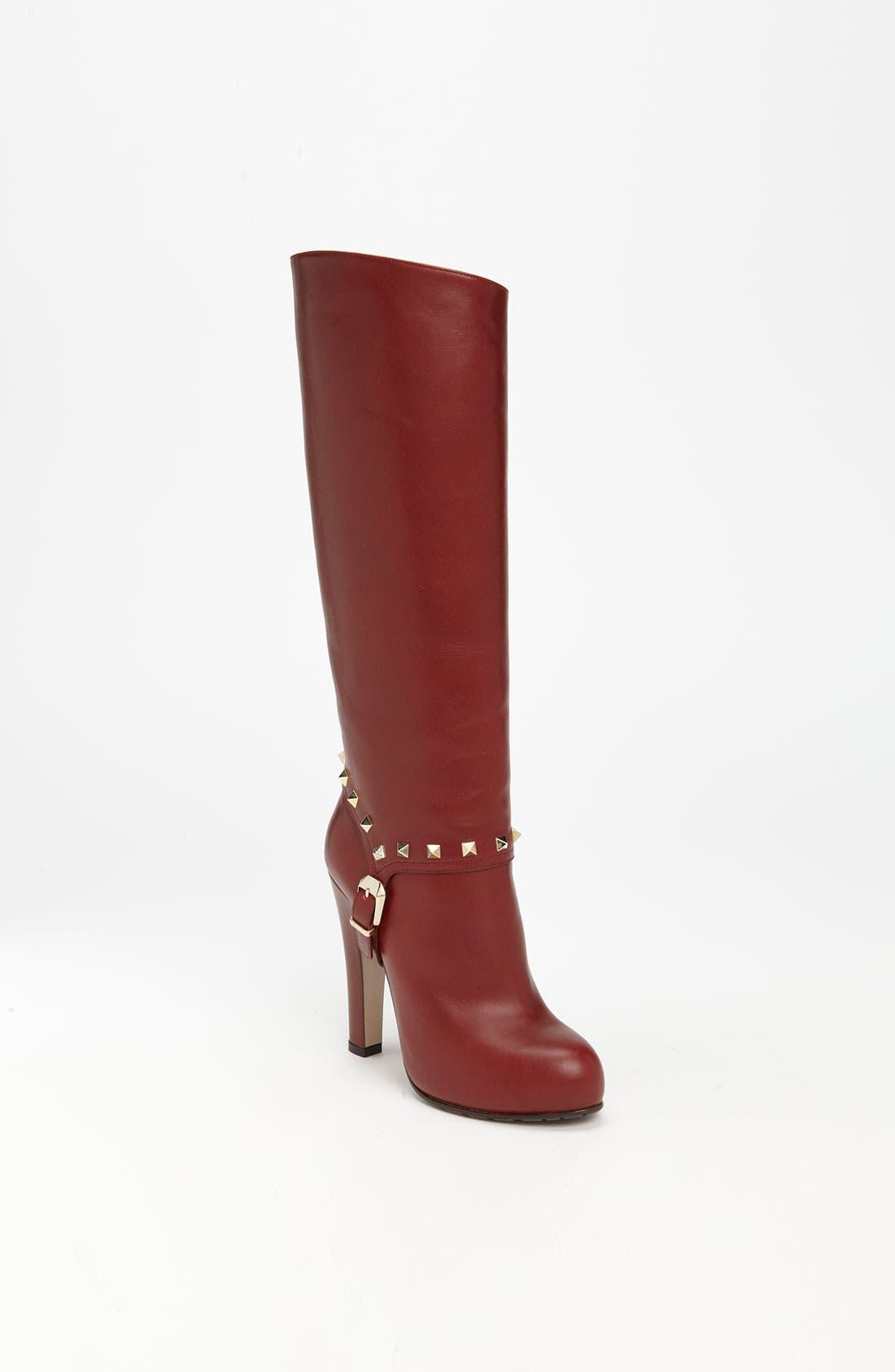 Main Image - Valentino 'Rockstud' Tall Boot