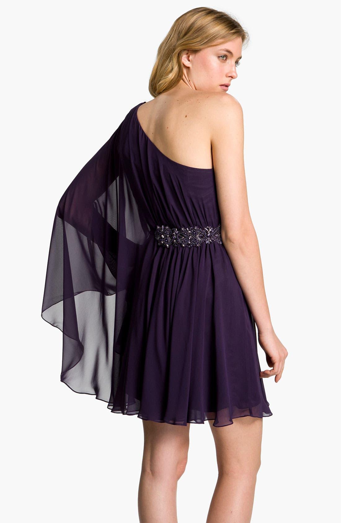 Alternate Image 2  - JS Boutique Beaded Draped Chiffon Dress