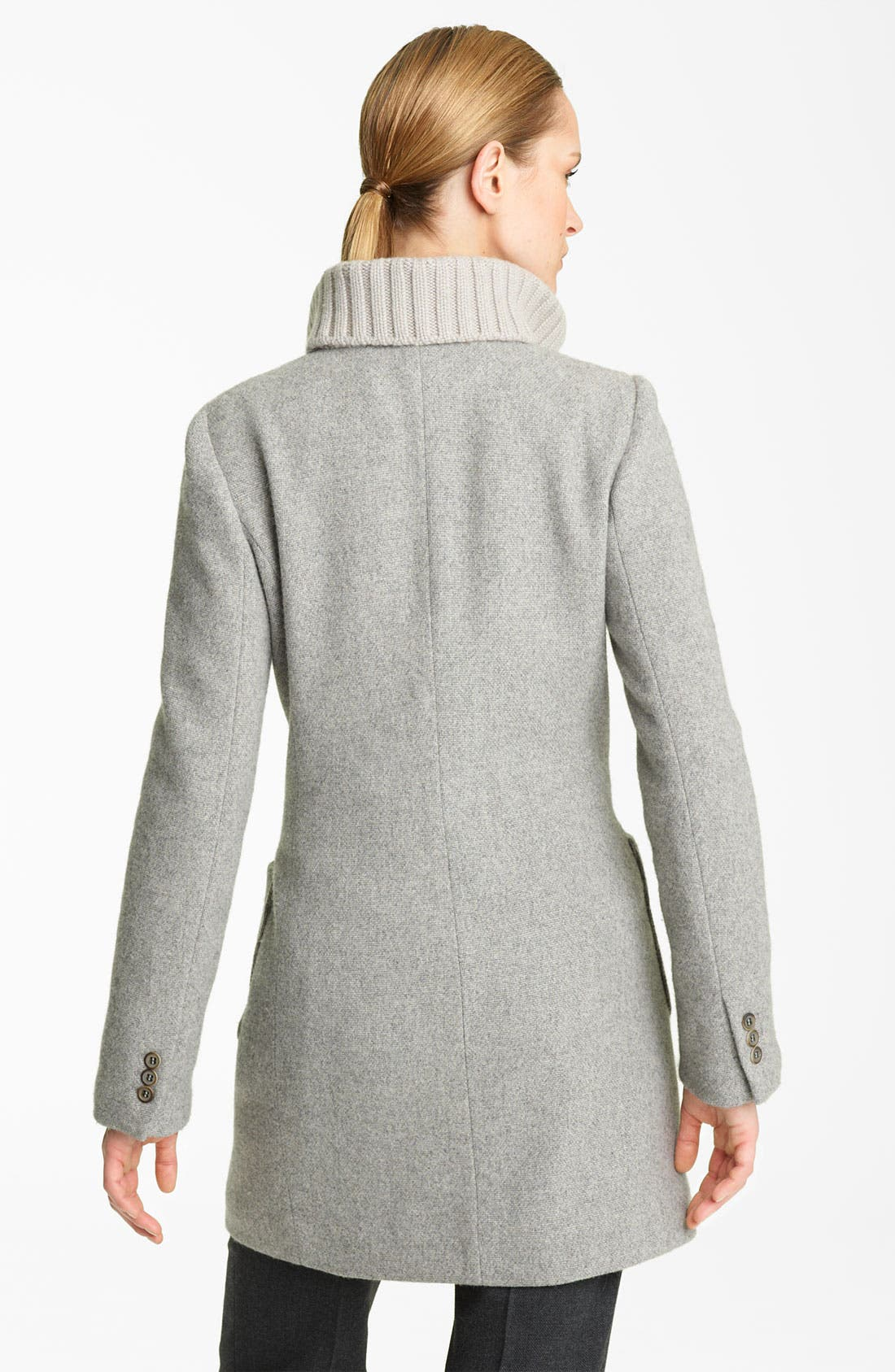 Alternate Image 2  - Fabiana Filippi Knit Collar Wool Blend Coat