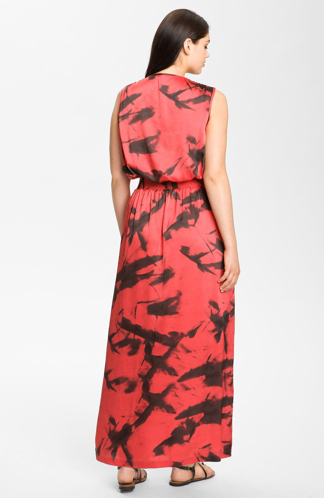 Alternate Image 2  - Vince Camuto 'Paper Abstract' Sleeveless Maxi Dress (Plus)