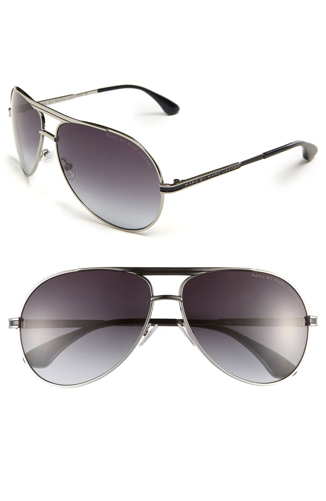 Main Image - MARC BY MARC JACOBS 65mm Aviator Sunglasses