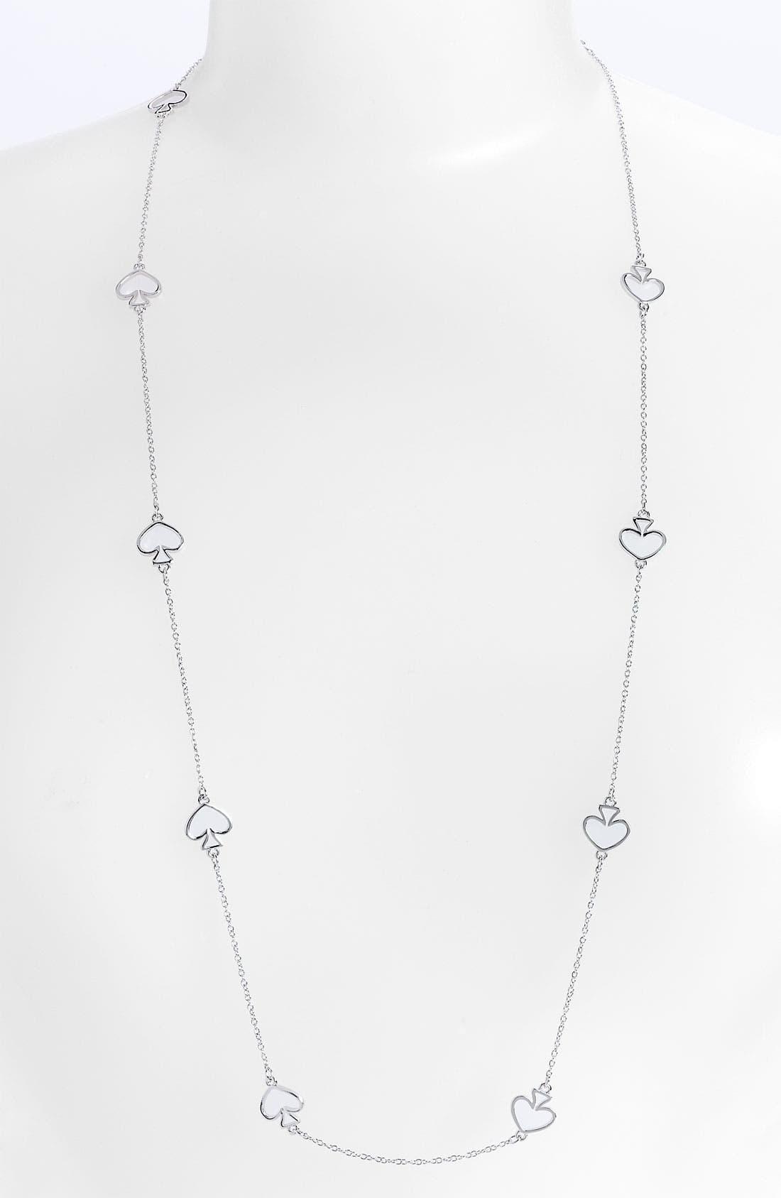 Main Image - kate spade new york 'open spade' long necklace