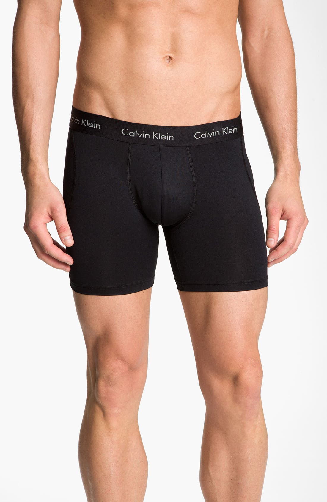 Alternate Image 1 Selected - Calvin Klein Microfiber Boxer Briefs (2-Pack)